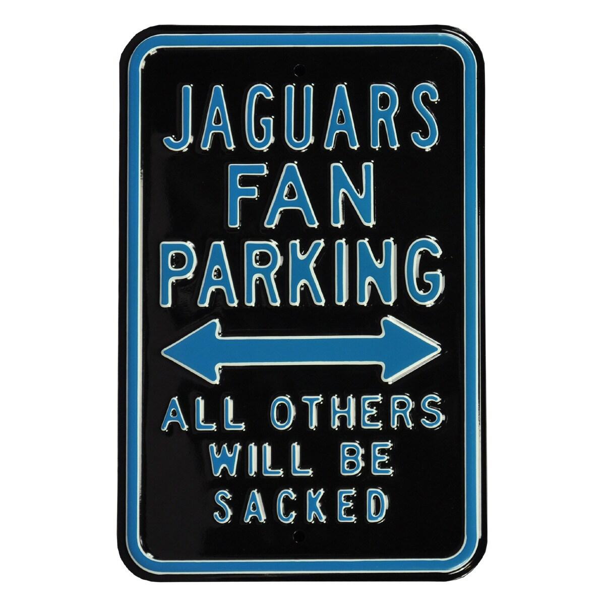"""Jacksonville Jaguars 12"""" x 18"""" Steel Parking Sign - Black"""