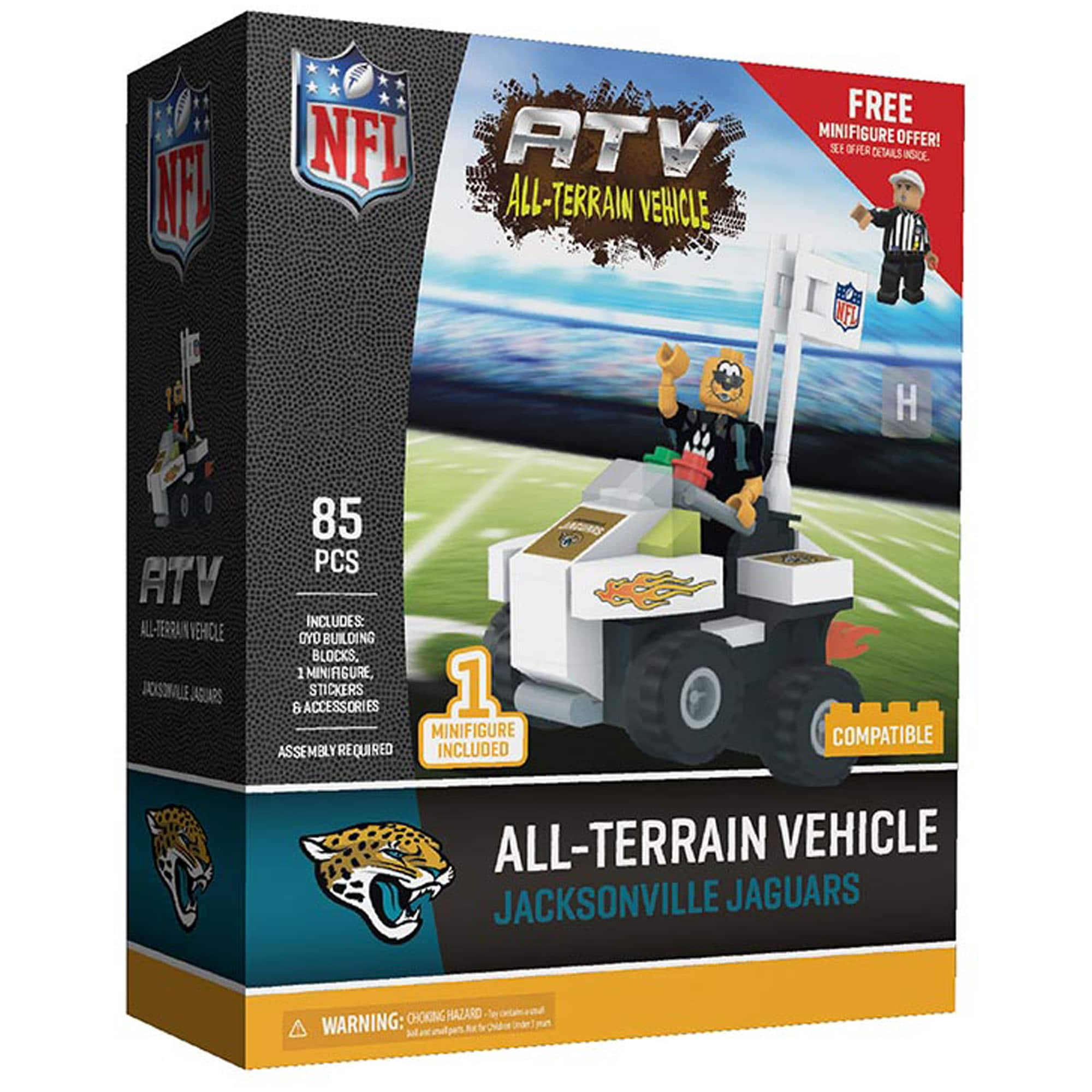 Jacksonville Jaguars OYO Sports Mascot 4-Wheel ATV Minifigure Set