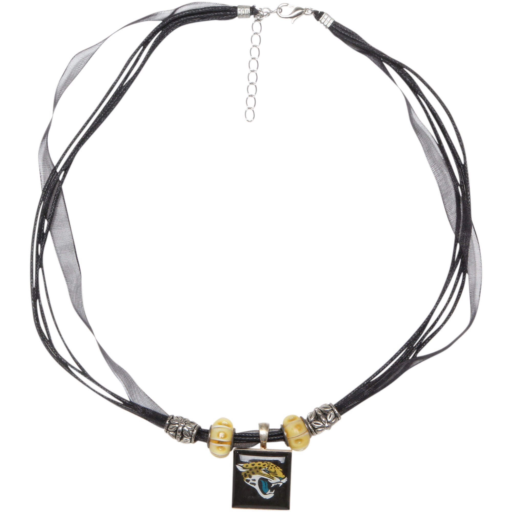 Jacksonville Jaguars WinCraft Women's Ribbon with Bead Lifetiles Necklace