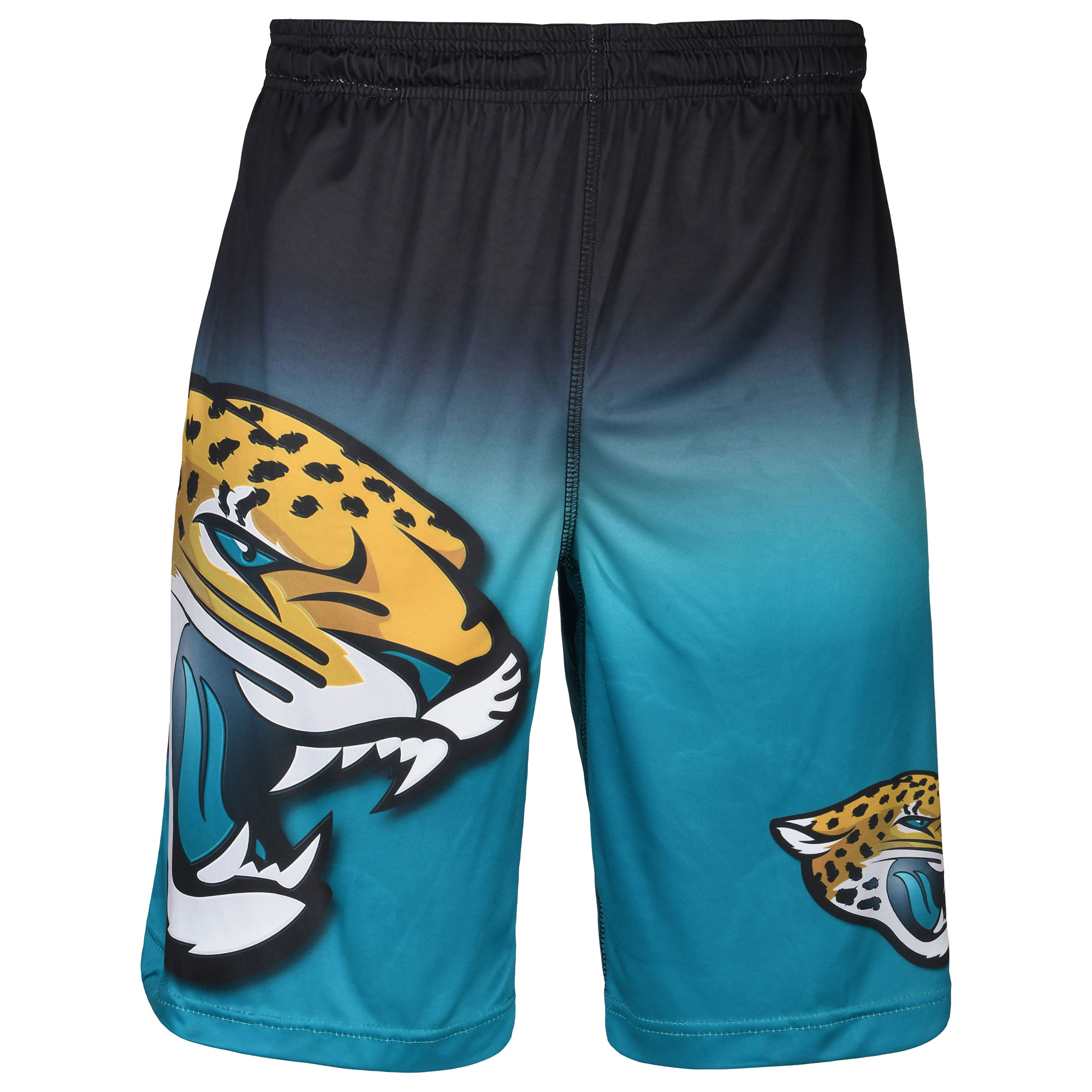 Jacksonville Jaguars Gradient Big Logo Training Shorts - Black