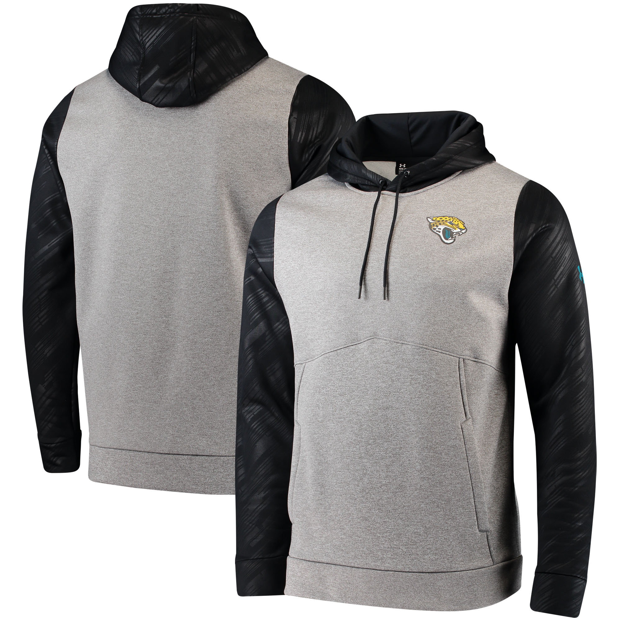 Jacksonville Jaguars Under Armour Combine Authentic Novelty Pullover Hoodie - Gray/Black