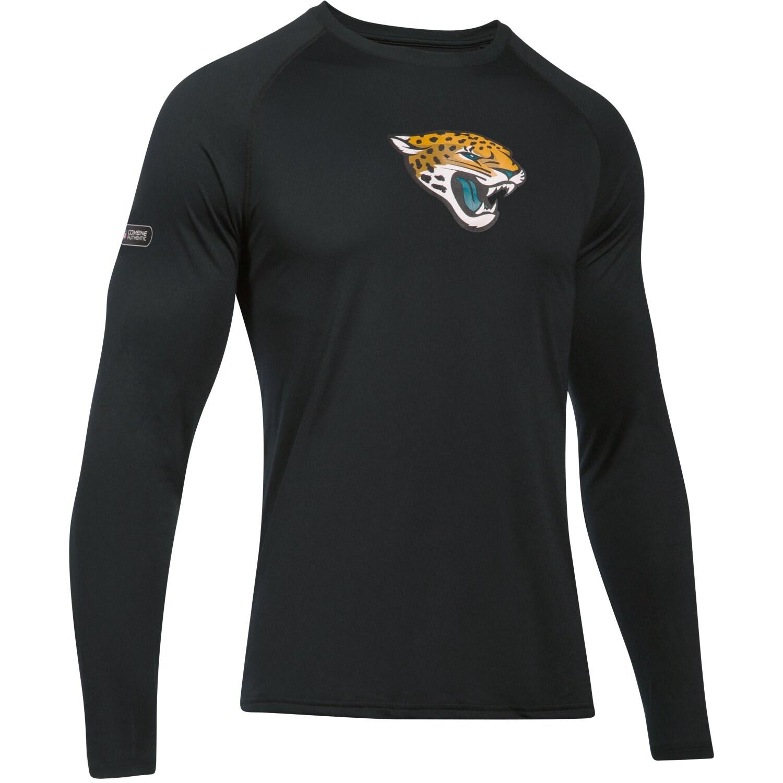 Jacksonville Jaguars Under Armour Combine Authentic Primary Logo Tech Long Sleeve T-Shirt - Black
