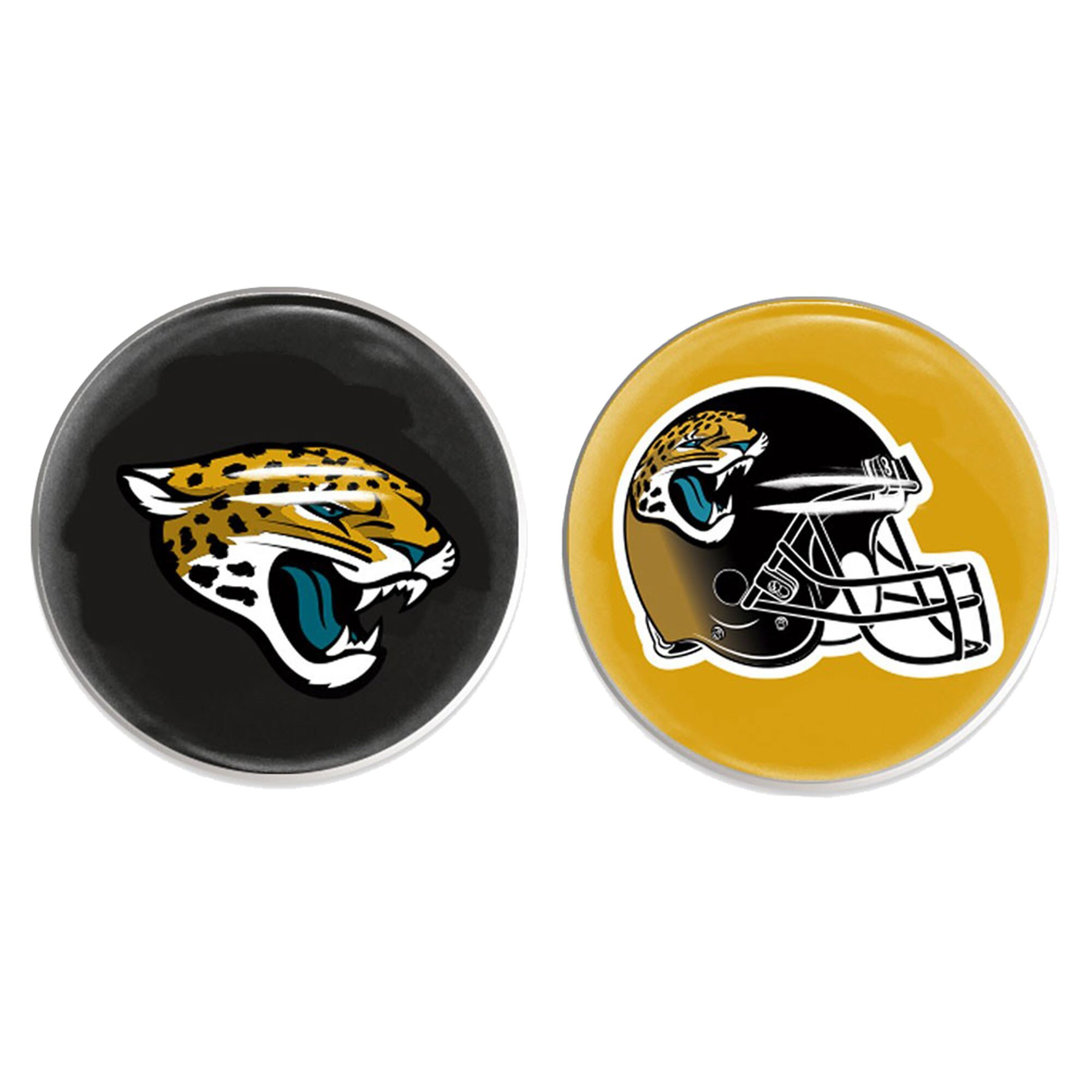 Jacksonville Jaguars WinCraft Two-Pack Sports Dot Magnet