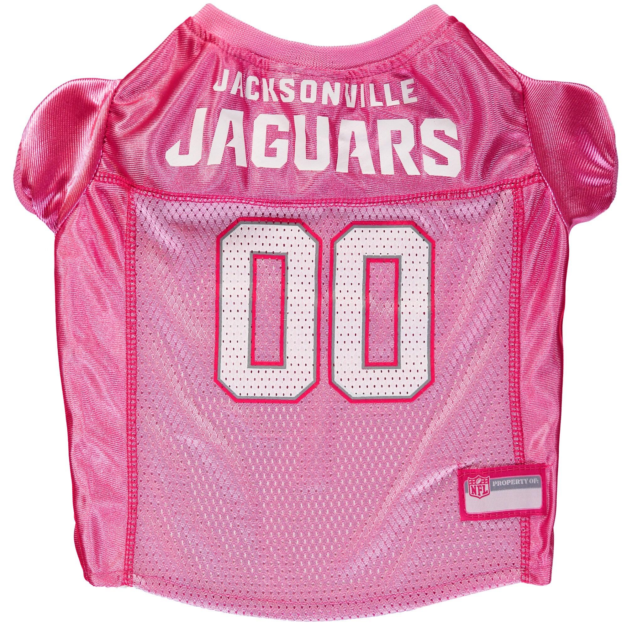 Jacksonville Jaguars Mesh Dog Jersey - Pink