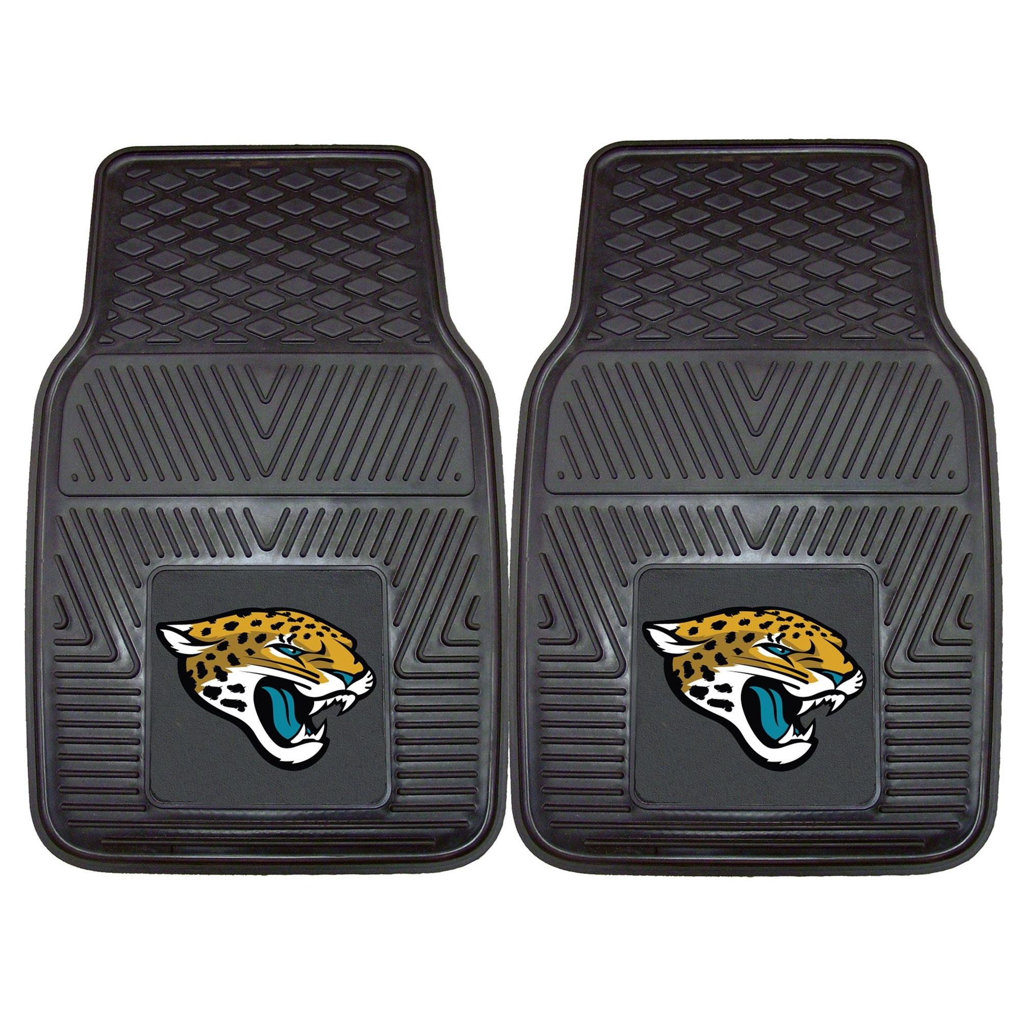 """Jacksonville Jaguars 27"""" x 18"""" 2-Pack Vinyl Car Mat Set"""