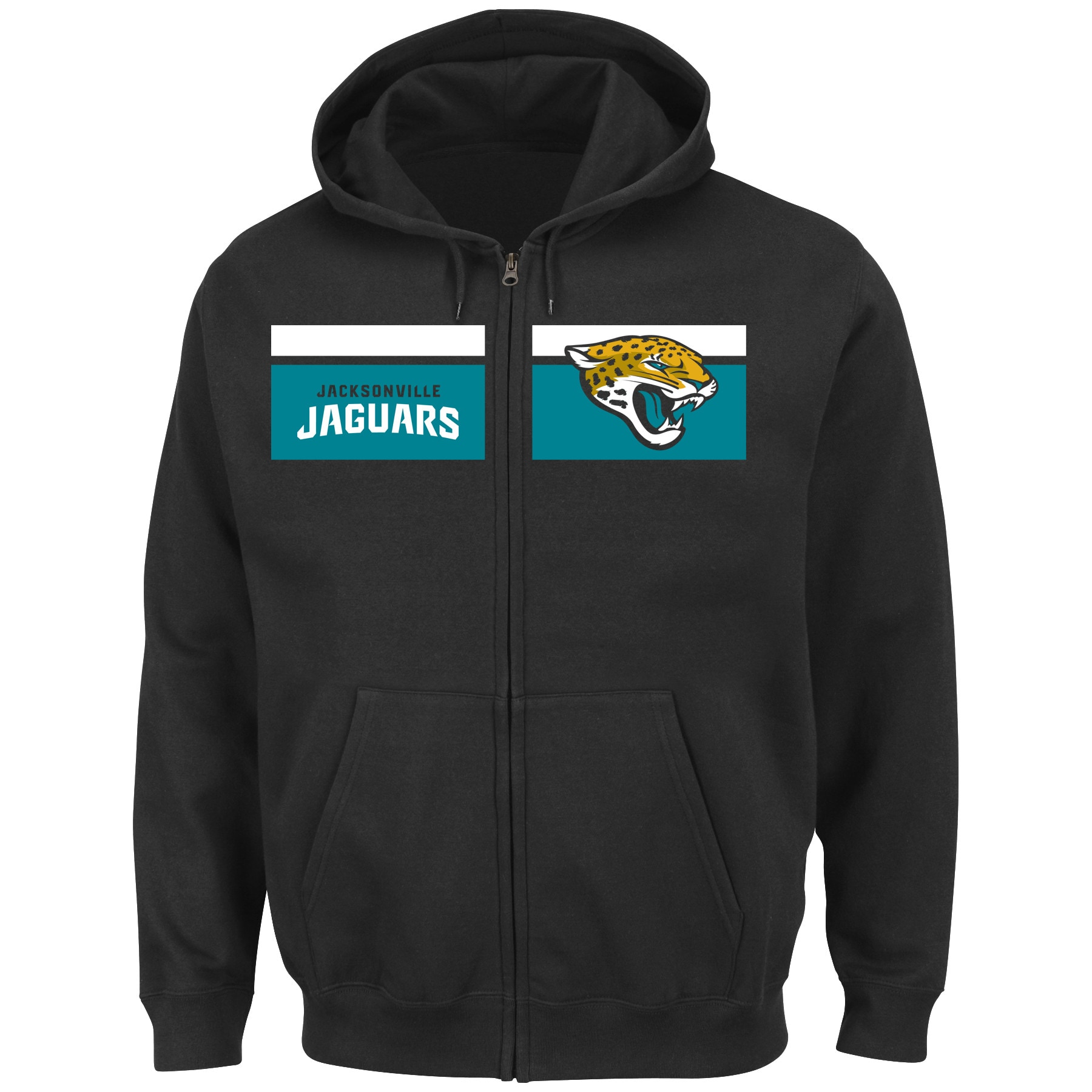 Jacksonville Jaguars Majestic Touchback Full-Zip Hoodie - Black