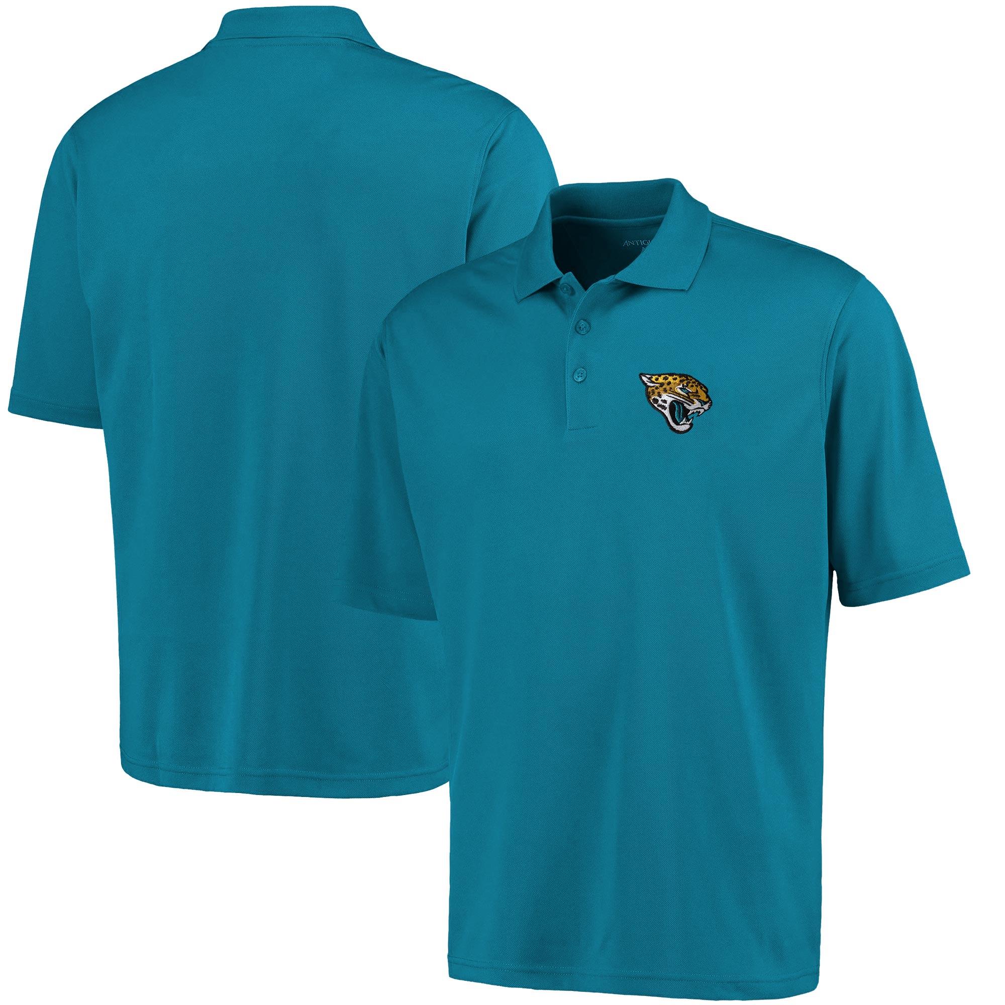 Jacksonville Jaguars Antigua Pique Xtra Lite Polo - Teal