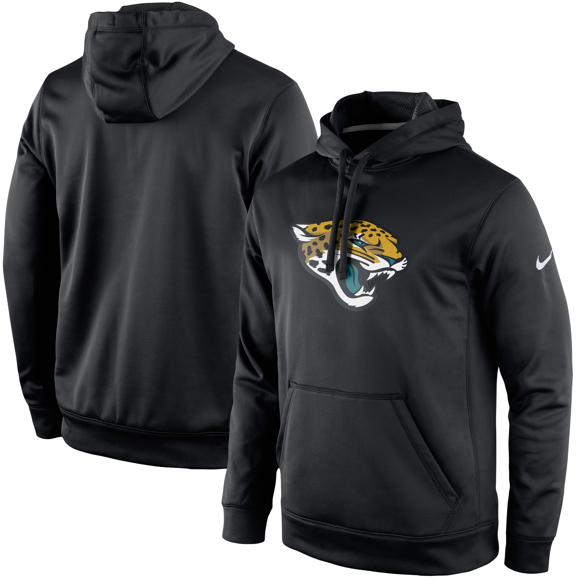 Jacksonville Jaguars Nike Circuit Logo Essential Performance Pullover Hoodie - Black
