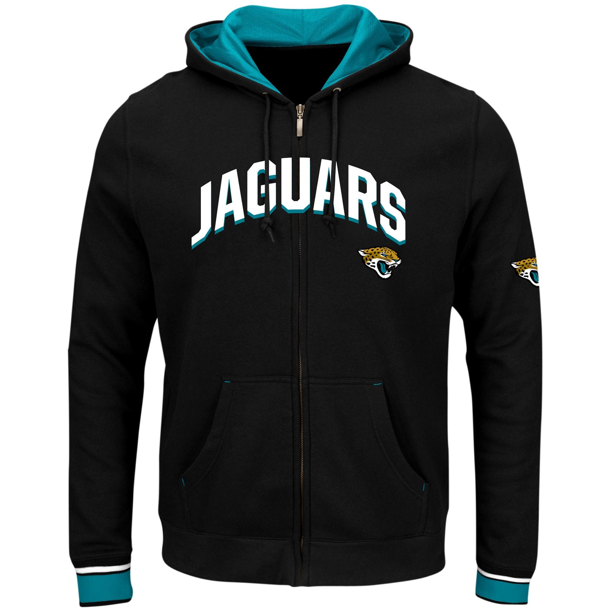 Jacksonville Jaguars Majestic Big & Tall Anchor Point Full-Zip Hoodie - Black