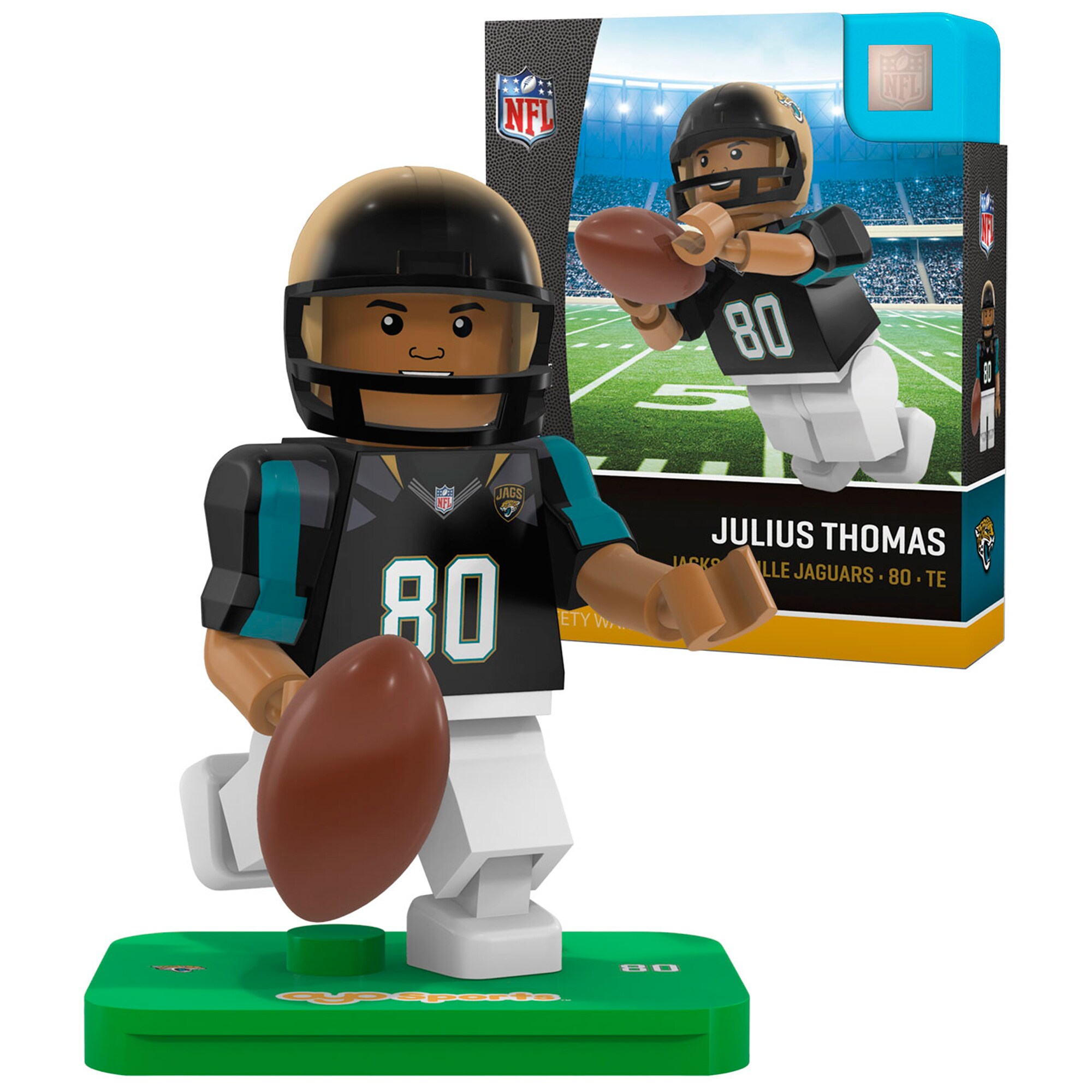 Julius Thomas Jacksonville Jaguars OYO Sports 2016 Player Minifigure