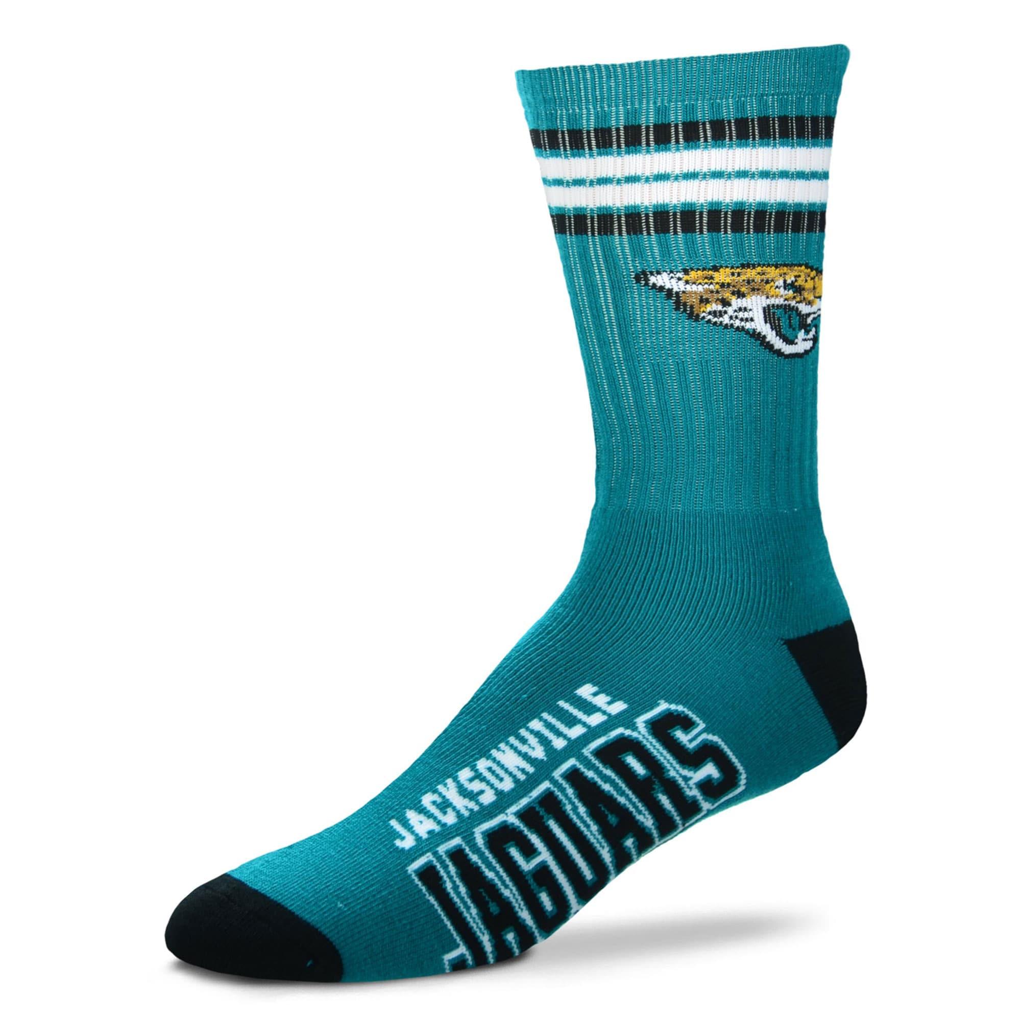 Jacksonville Jaguars For Bare Feet Women's Four Stripe Socks