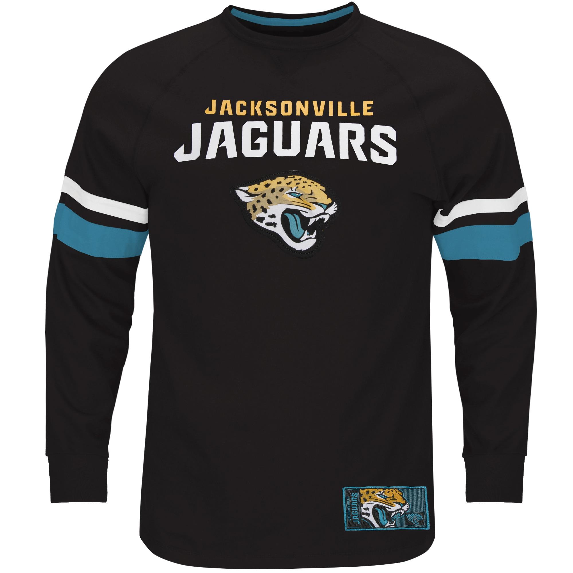 Jacksonville Jaguars Majestic Big & Tall Power Hit Long Sleeve T-Shirt - Black
