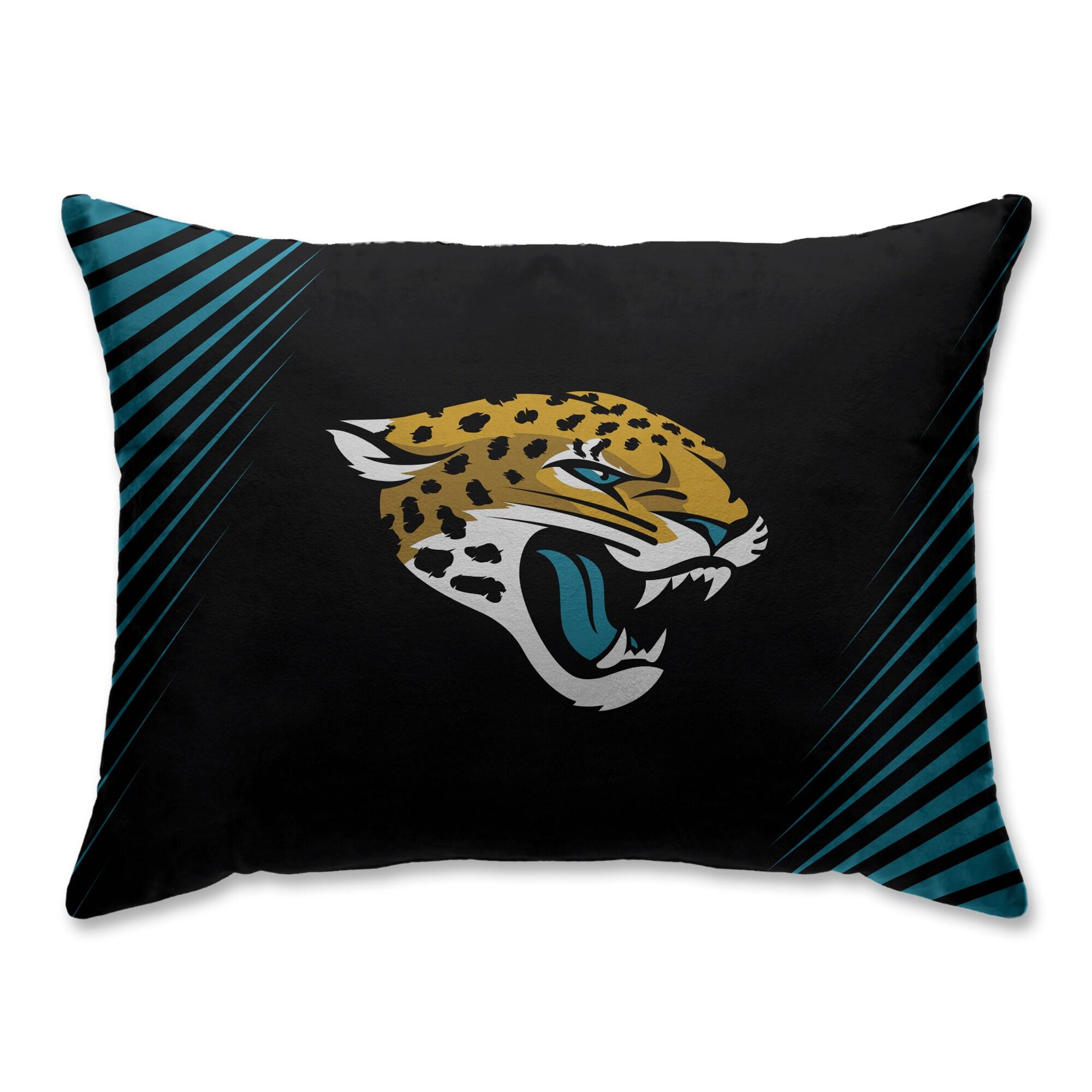 Jacksonville Jaguars Side Streak Plush Standard Pillow Protector - Teal