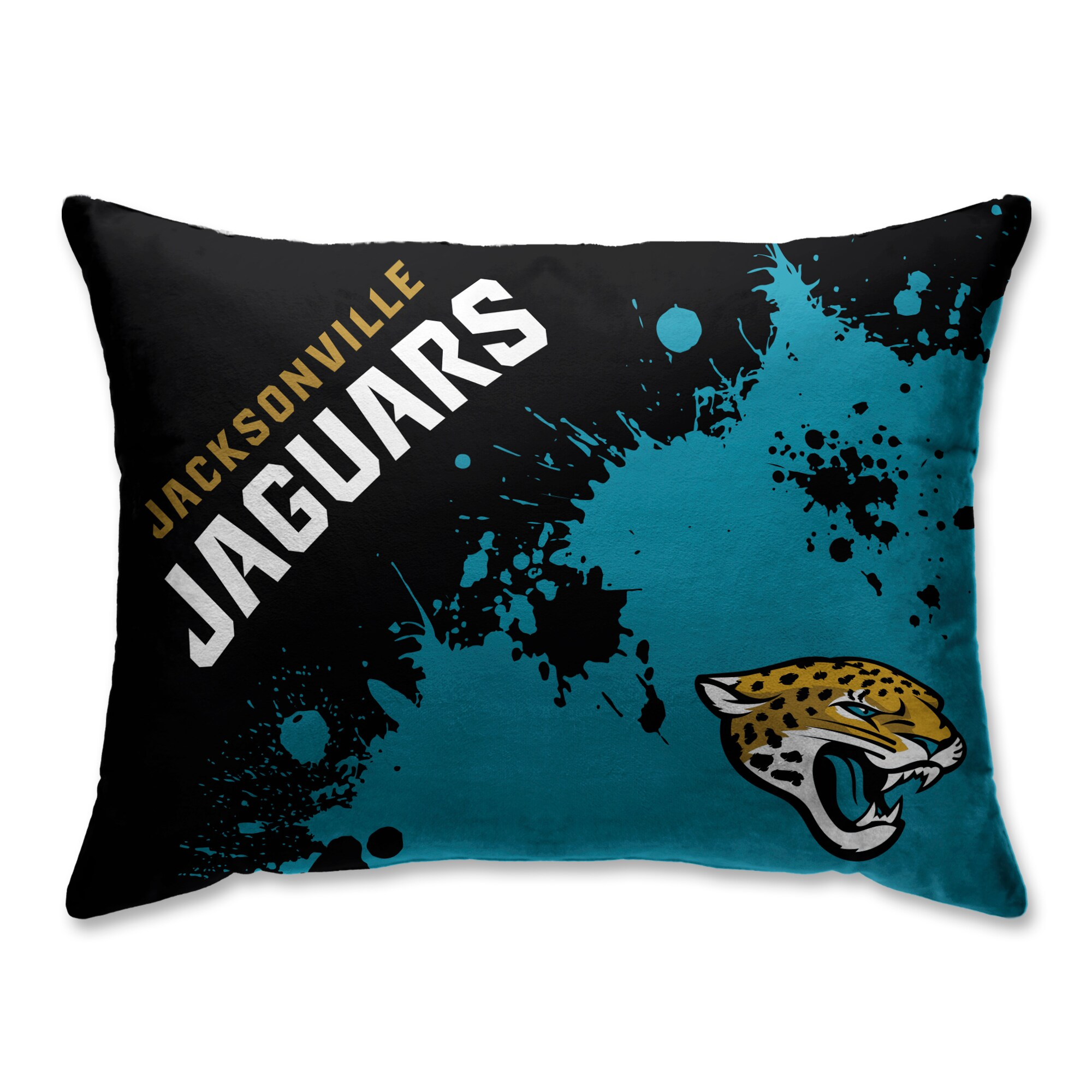 Jacksonville Jaguars Splatter Plush Bed Pillow - Green