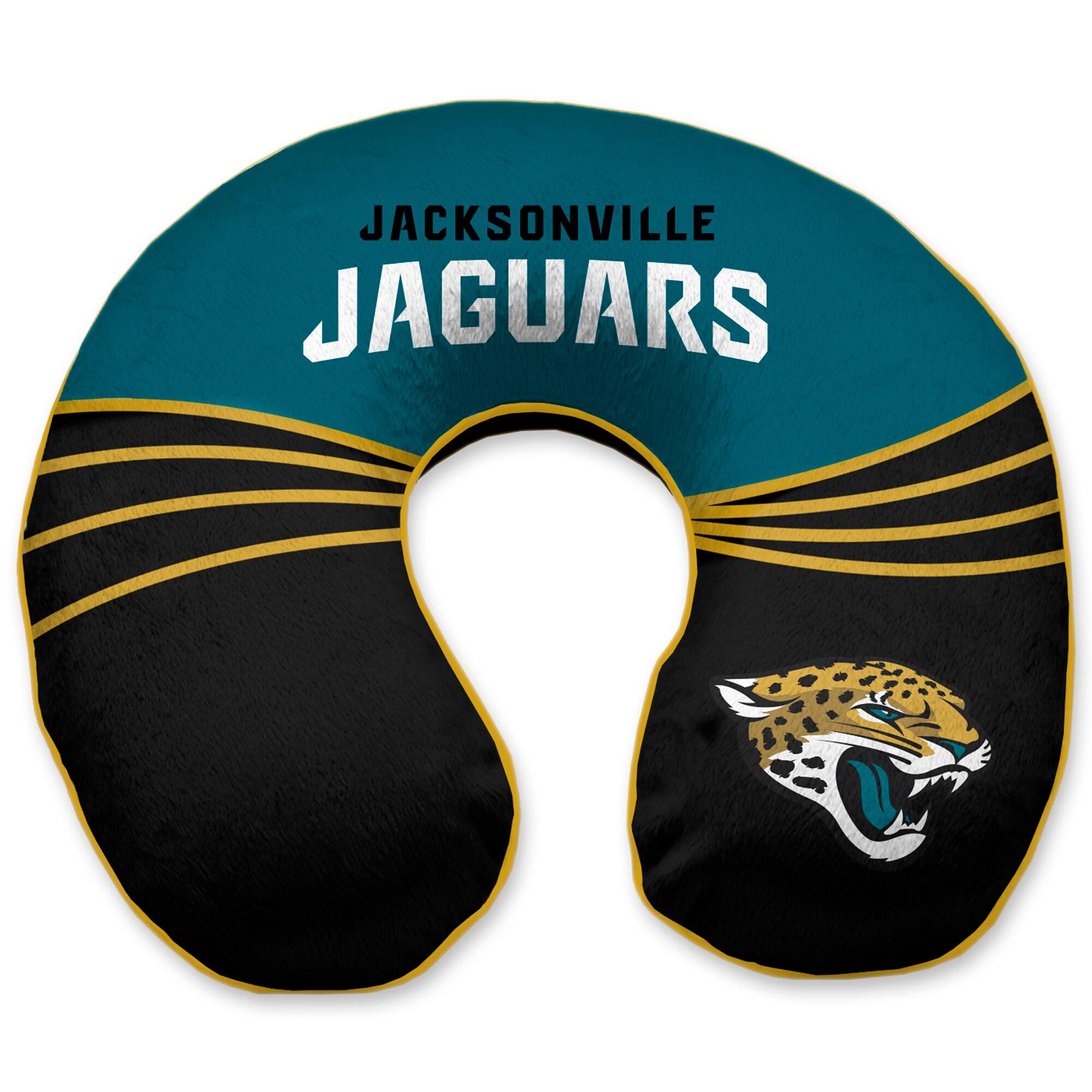 Jacksonville Jaguars Wave Memory Foam U-Neck Travel Pillow - Green