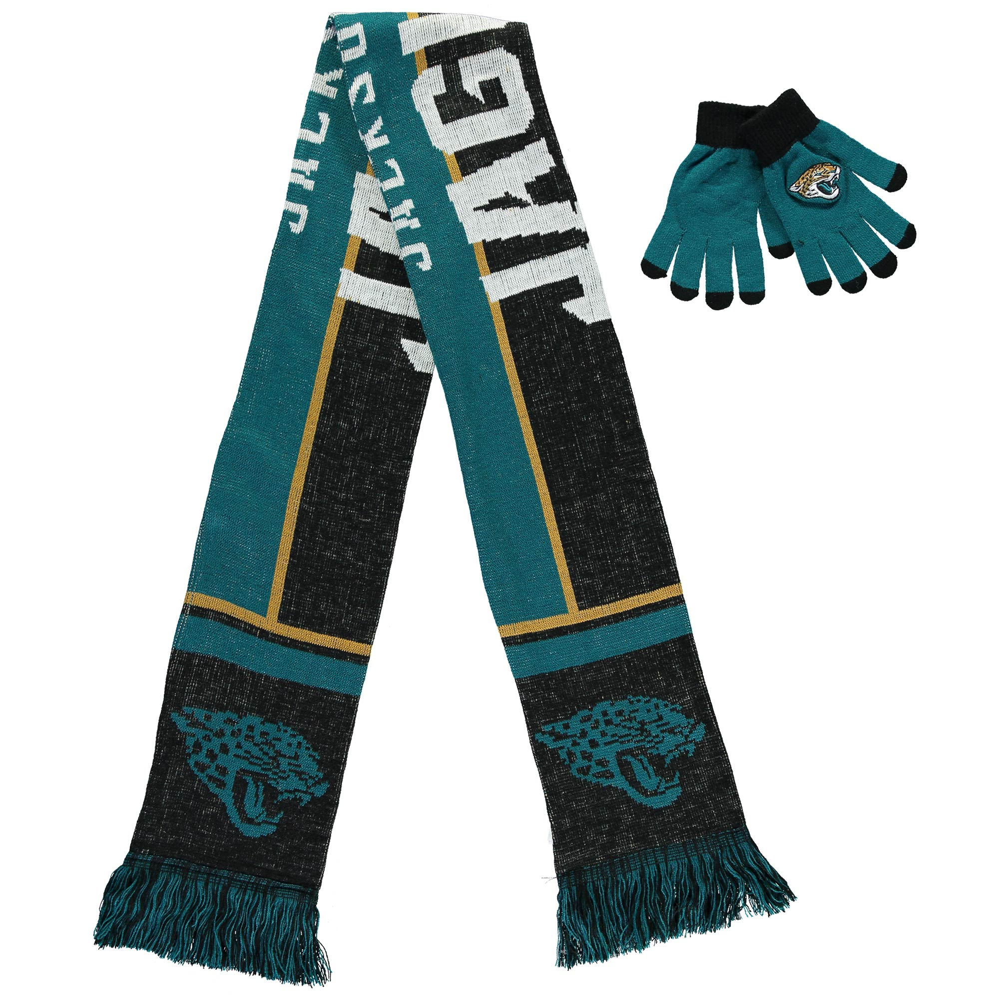 Jacksonville Jaguars Gloves and Scarf Set