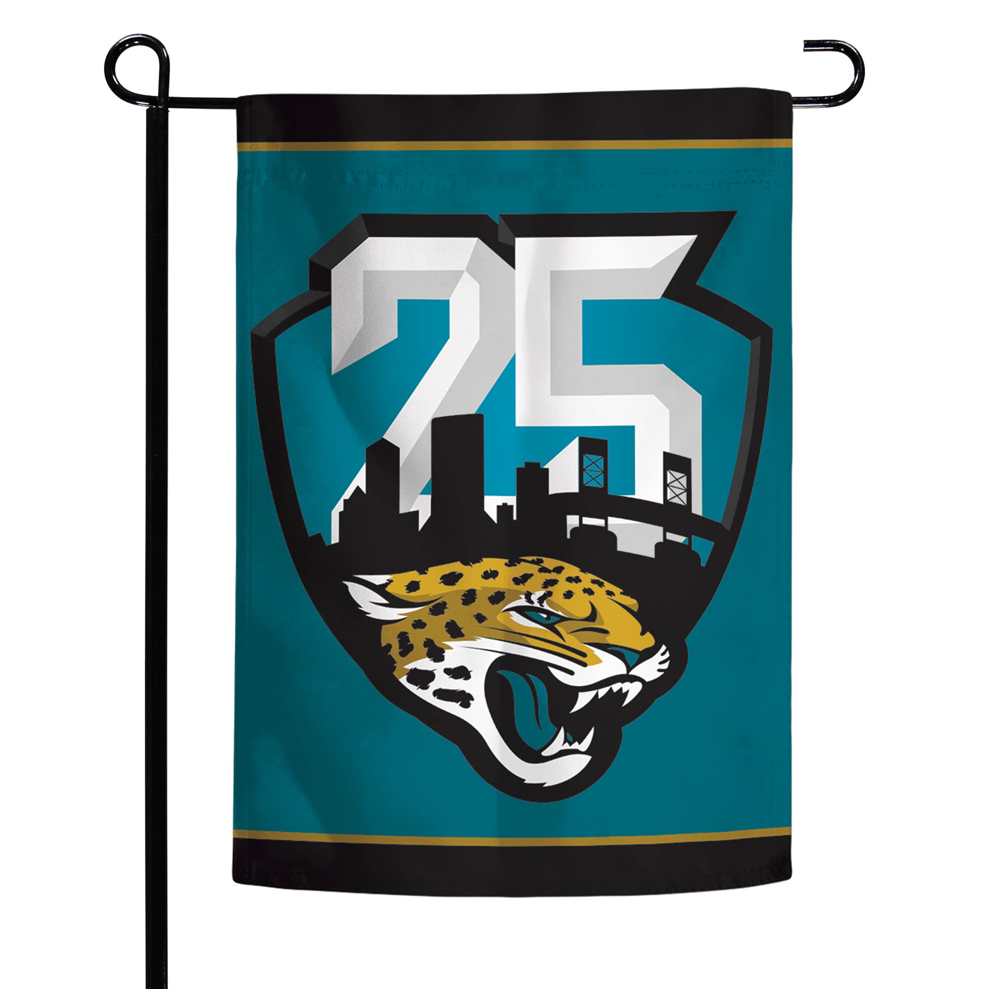 "Jacksonville Jaguars WinCraft 12"" x 18"" 25th Season Double-Sided Garden Flag"