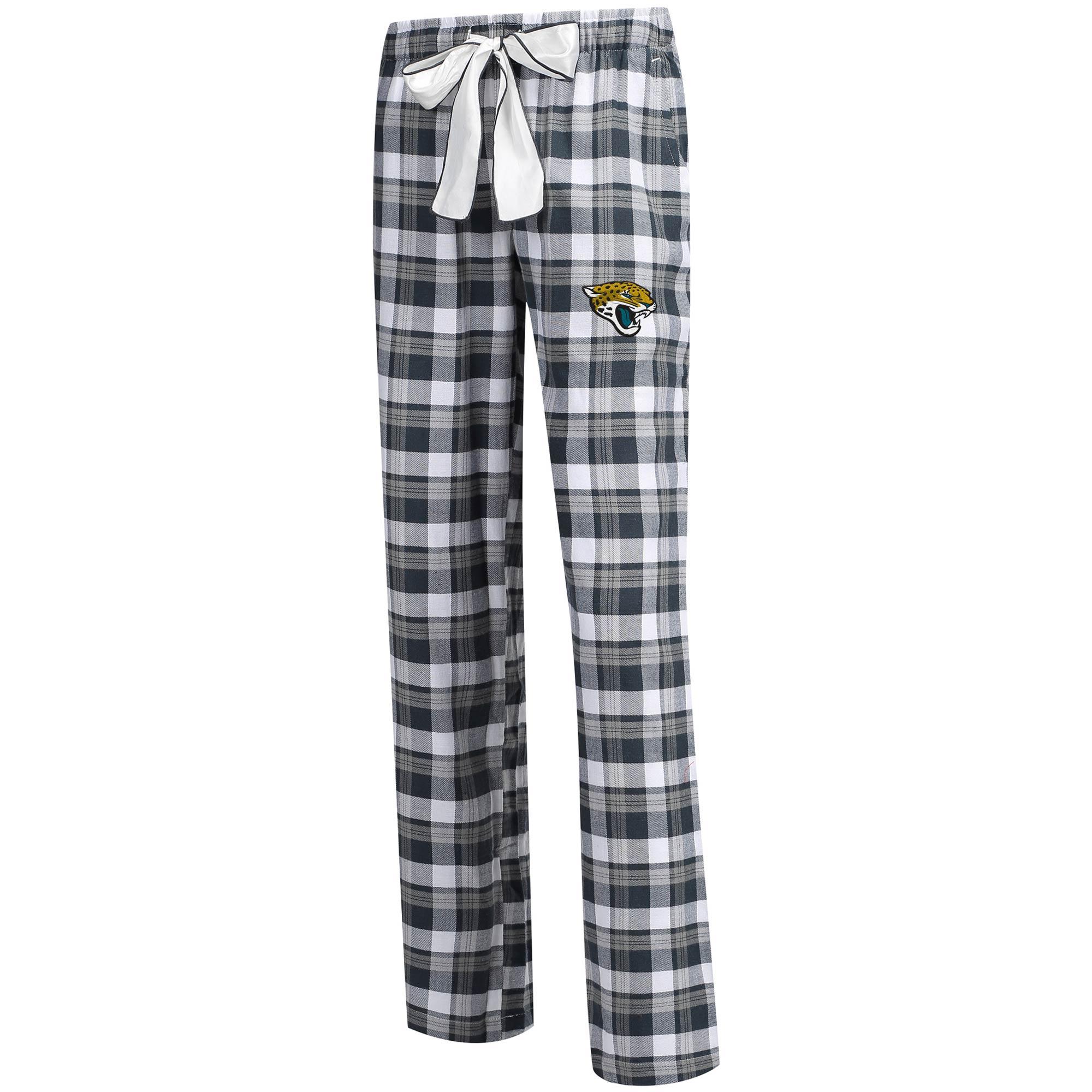 Jacksonville Jaguars Concepts Sport Women's Piedmont Flannel Sleep Pants - Charcoal/Gray