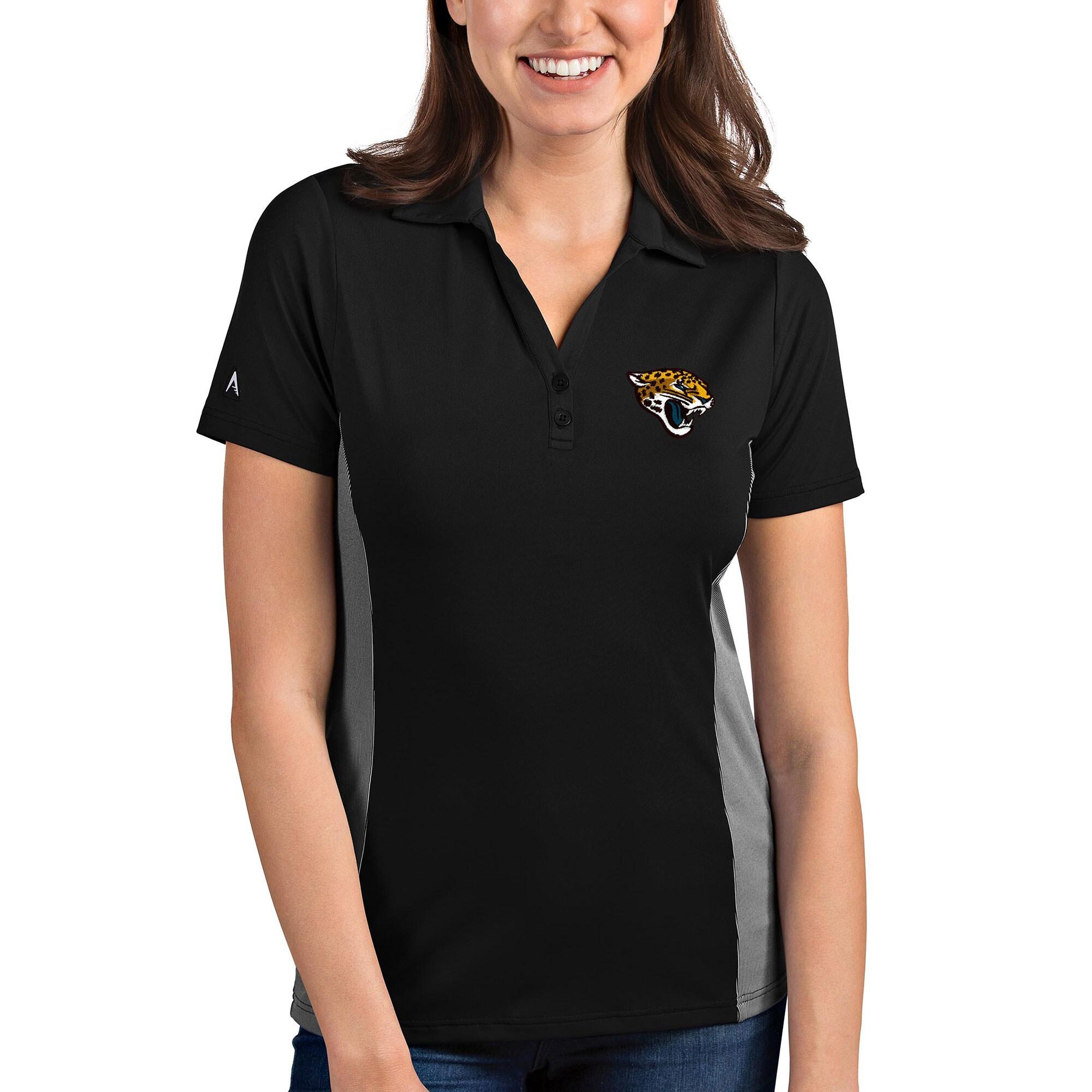 Jacksonville Jaguars Antigua Women's Venture Polo - Black