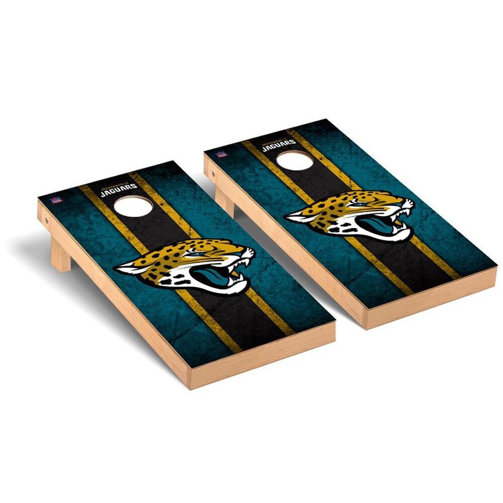 Jacksonville Jaguars 2' x 4' Vintage Regulation Cornhole Board Tailgate Toss Set