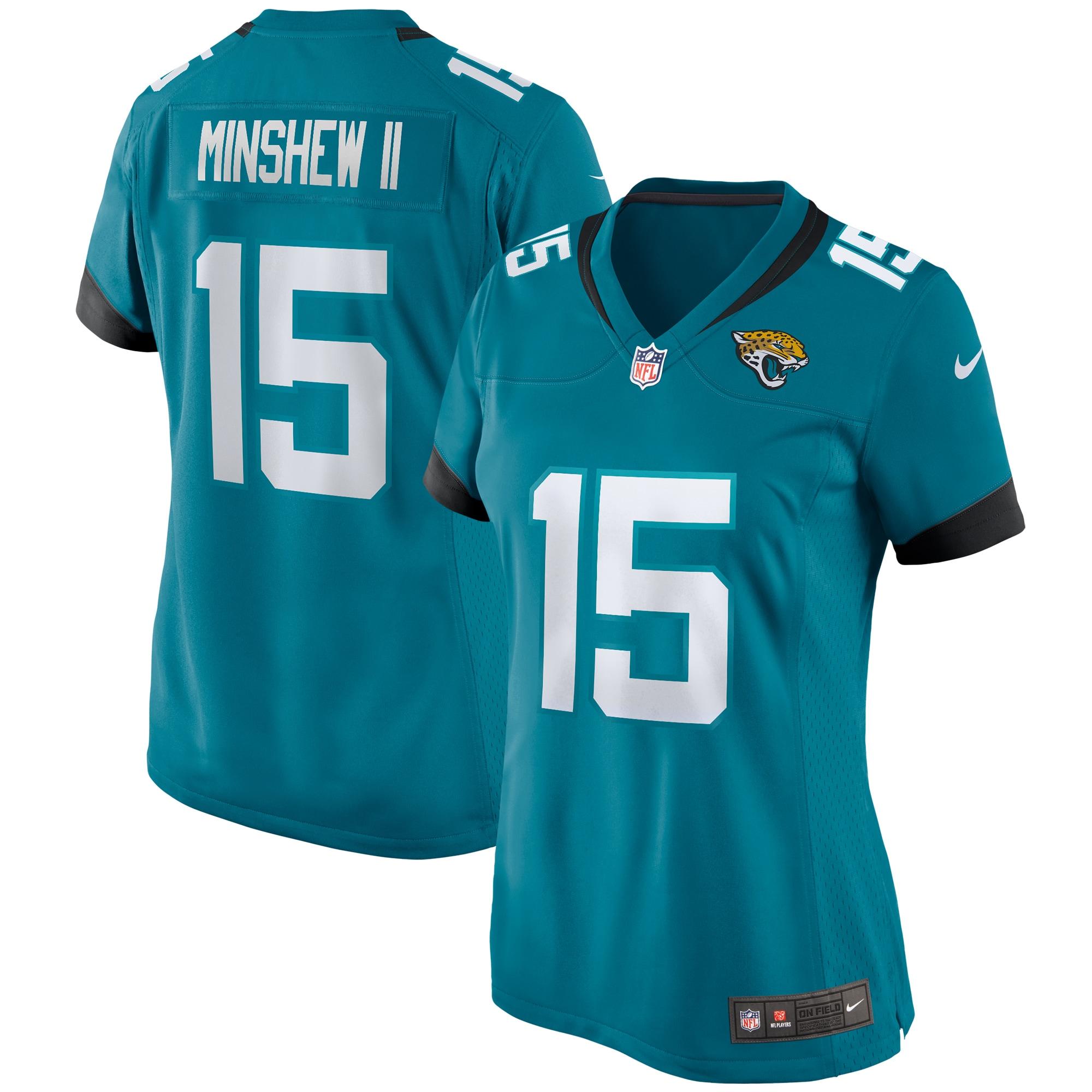 Gardner Minshew II Jacksonville Jaguars Nike Women's Game Jersey - Teal