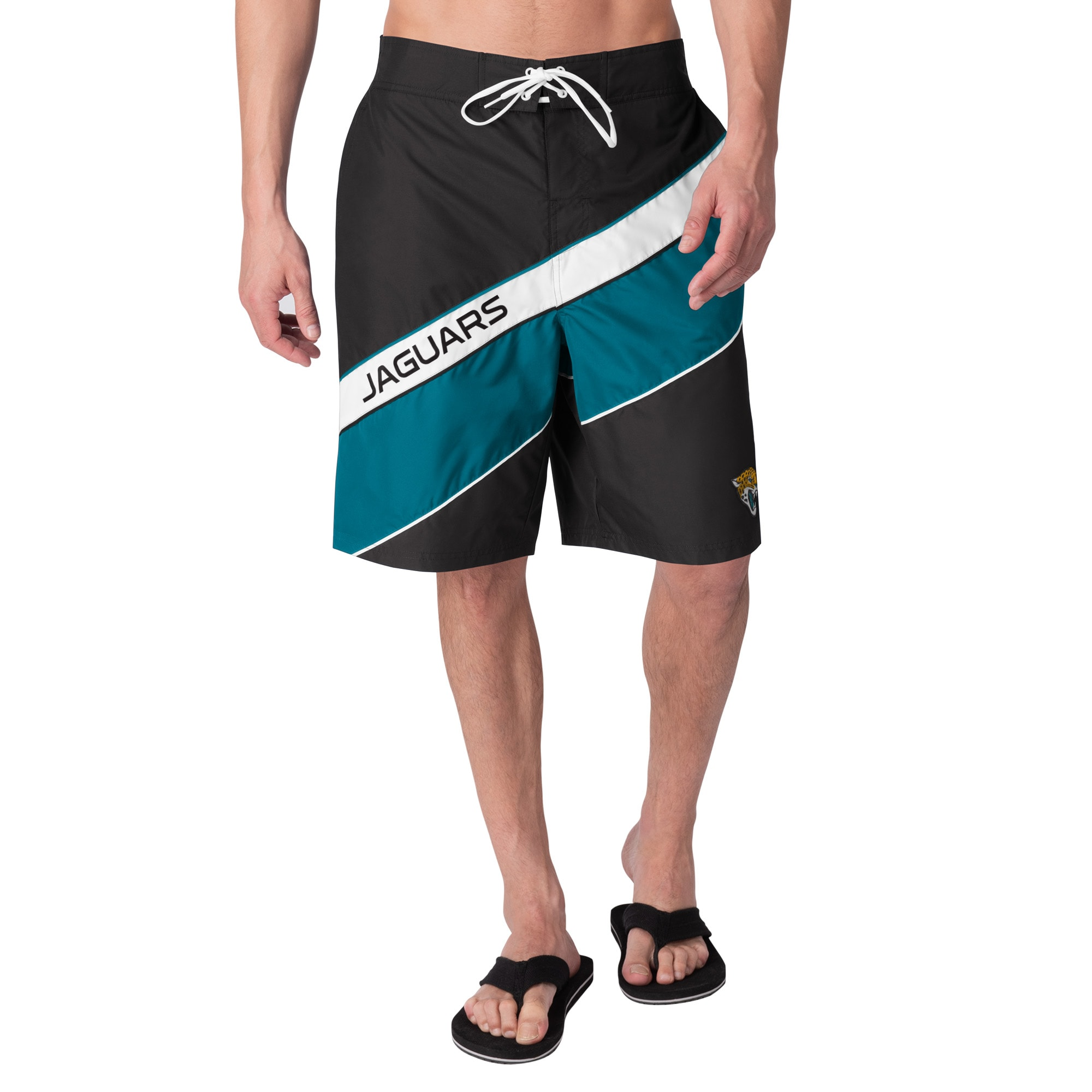 Jacksonville Jaguars G-III Sports by Carl Banks Rookie Swim Trunks - Black/Teal