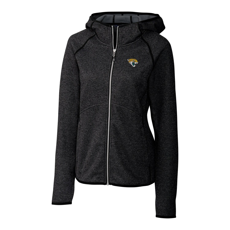 Jacksonville Jaguars Cutter & Buck Women's Mainsail Full-Zip Jacket - Black