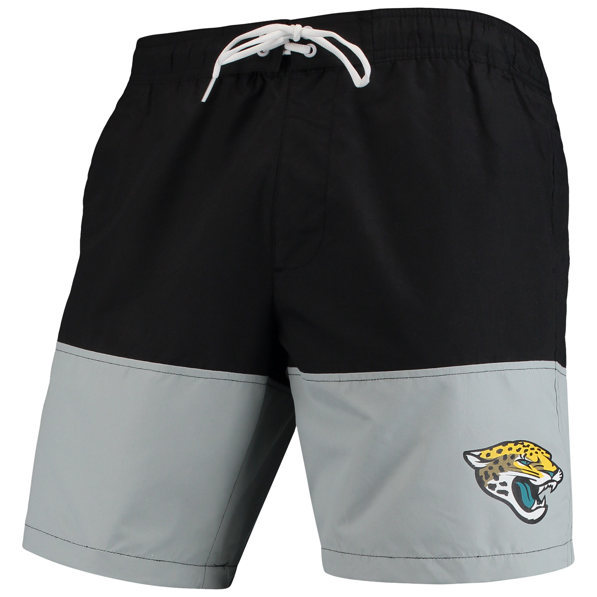 Jacksonville Jaguars G-III Sports by Carl Banks Anchor Volley Swim Trunks - Black/Gray