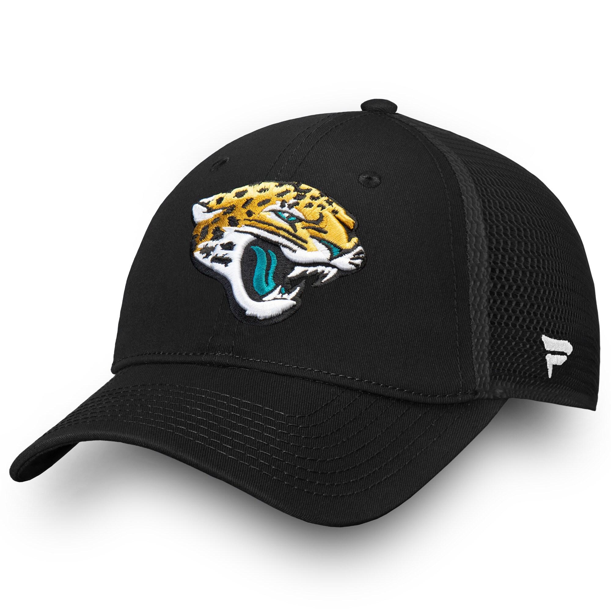 Jacksonville Jaguars NFL Pro Line by Fanatics Branded Elevated Core Trucker Adjustable Snapback Hat - Black