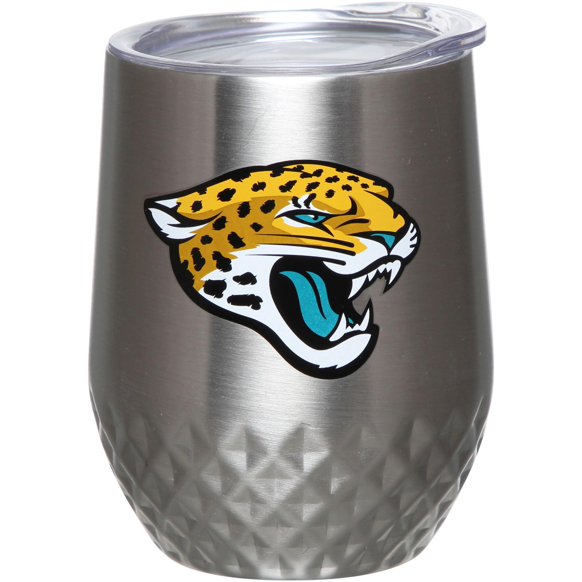 Jacksonville Jaguars 12oz. Stainless Steel Stemless Diamond Tumbler