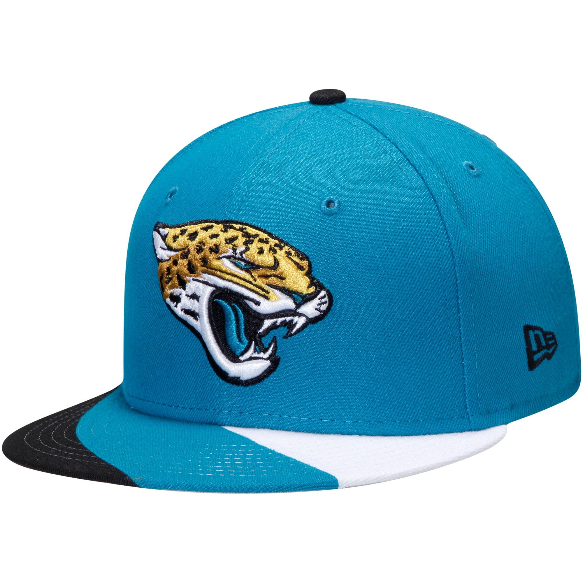 Jacksonville Jaguars New Era Curve 9FIFTY Adjustable Snapback Hat - Teal