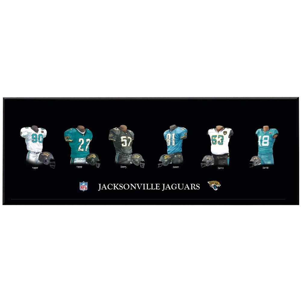 Jacksonville Jaguars 8'' x 24'' Uniform Evolution Plaque