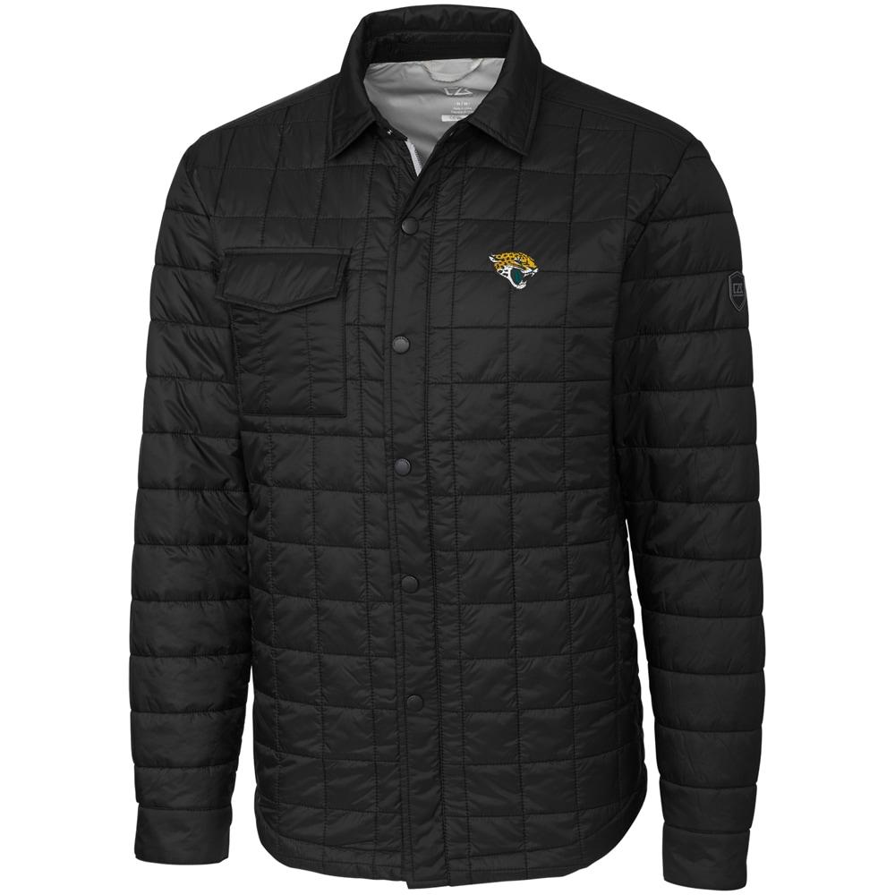 Jacksonville Jaguars Cutter & Buck Big & Tall Rainier Shirt Jacket - Black