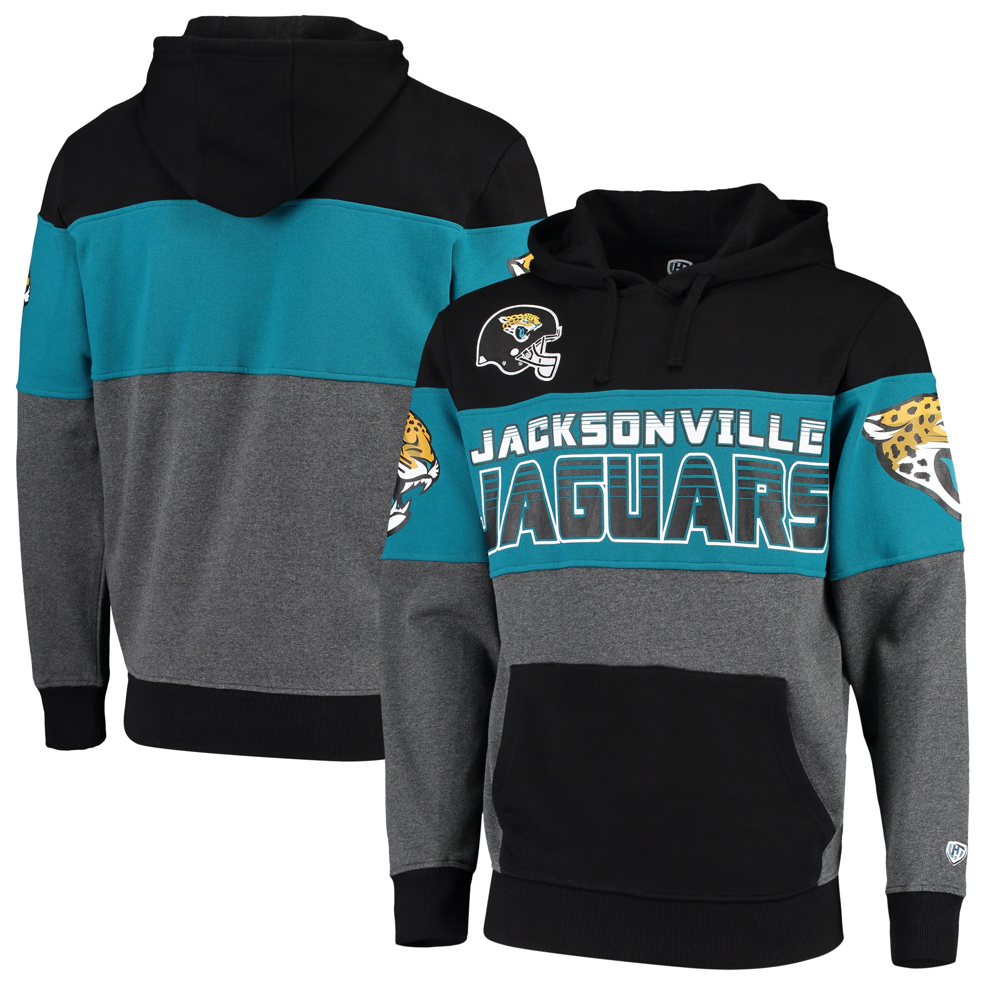 Jacksonville Jaguars G-III Sports by Carl Banks Extreme Special Team Pullover Hoodie - Black/Charcoal