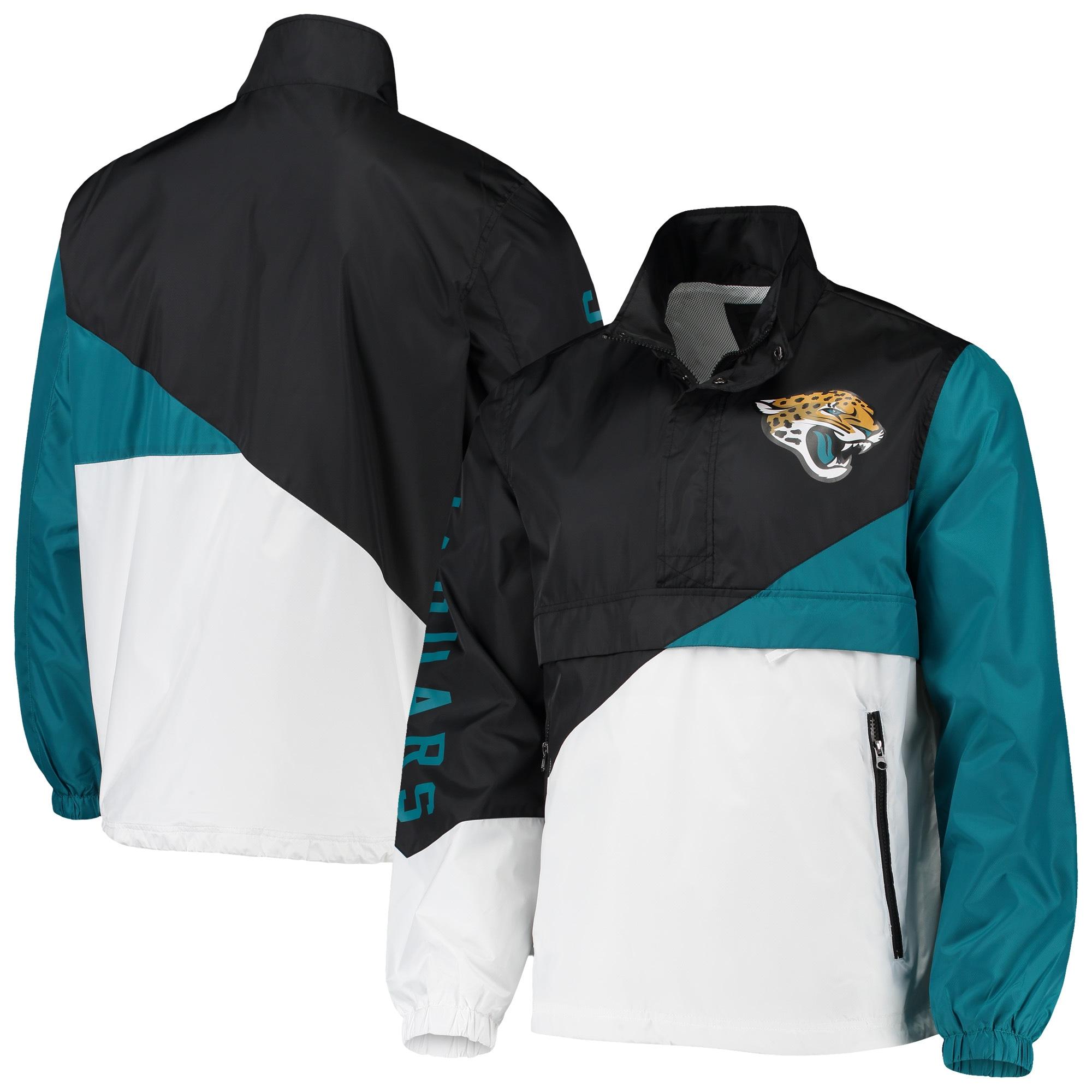 Jacksonville Jaguars G-III Sports by Carl Banks Double Team Half-Zip Pullover Jacket - Black/White