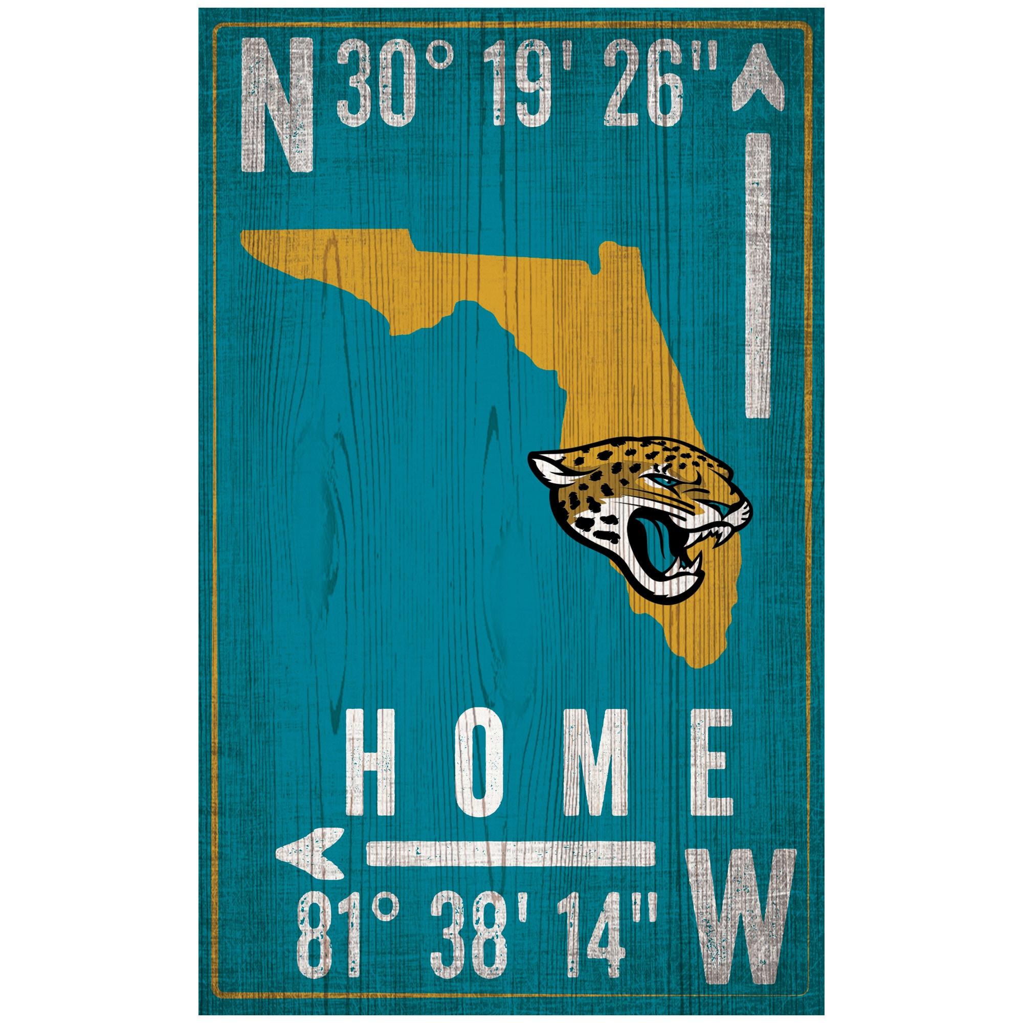 "Jacksonville Jaguars 11"" x 19"" Coordinate Sign"