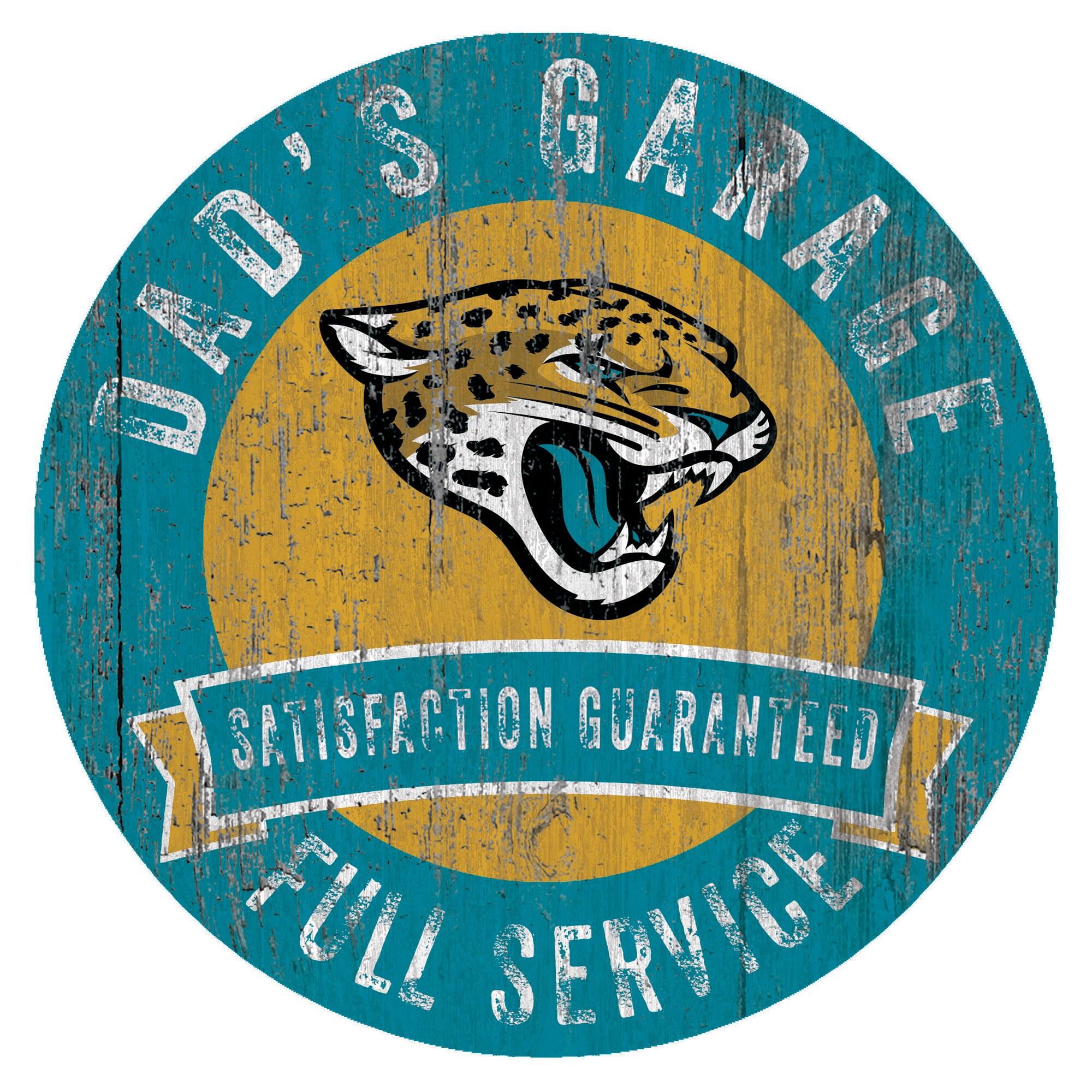 """Jacksonville Jaguars 12"""" x 12"""" Dad's Garage Sign"""