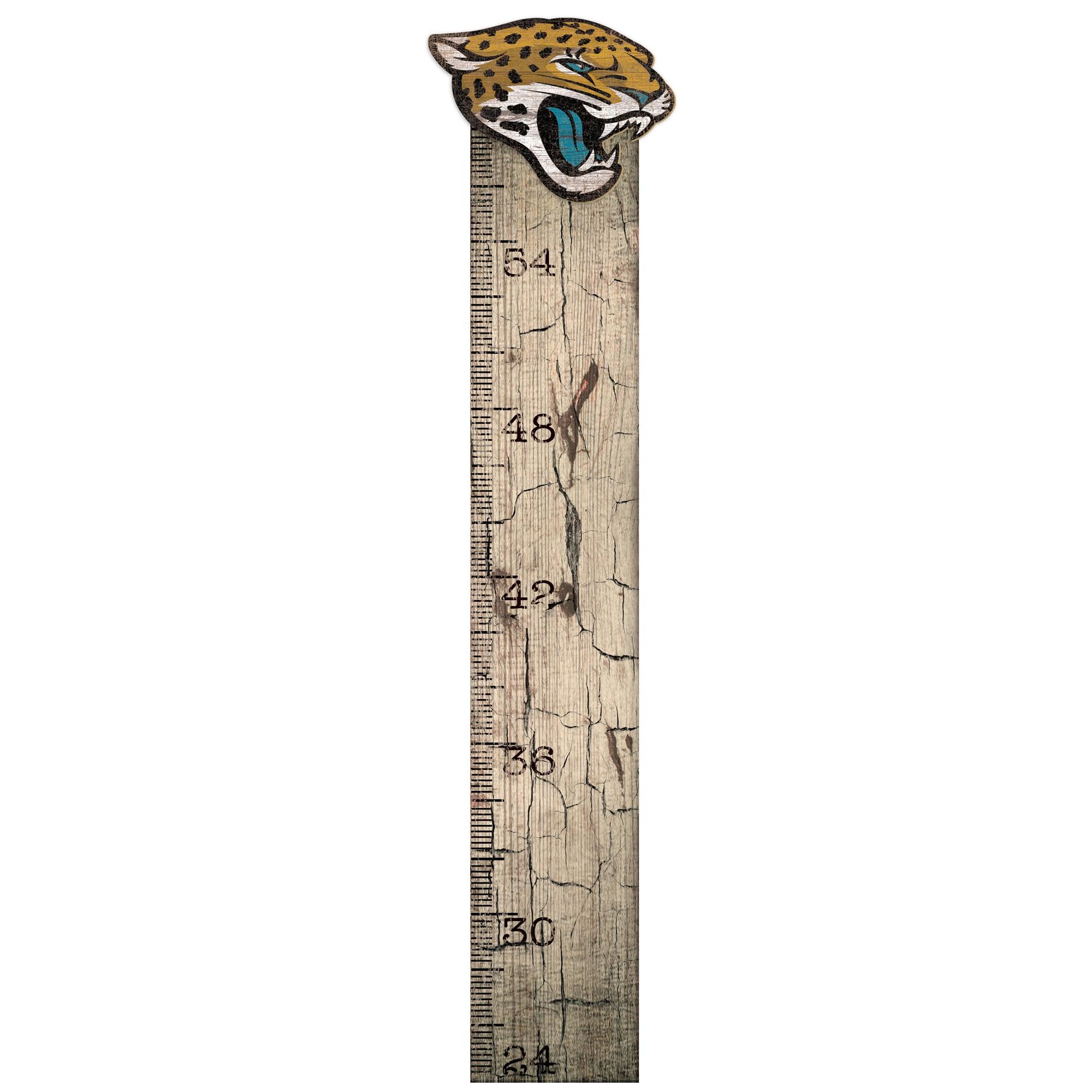 "Jacksonville Jaguars 6"" x 36"" Growth Chart Sign"