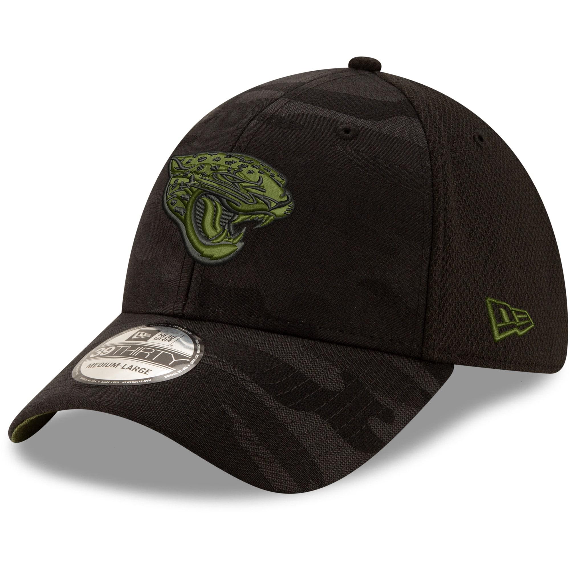 Jacksonville Jaguars New Era Camo Royale 39THIRTY Flex Hat - Black