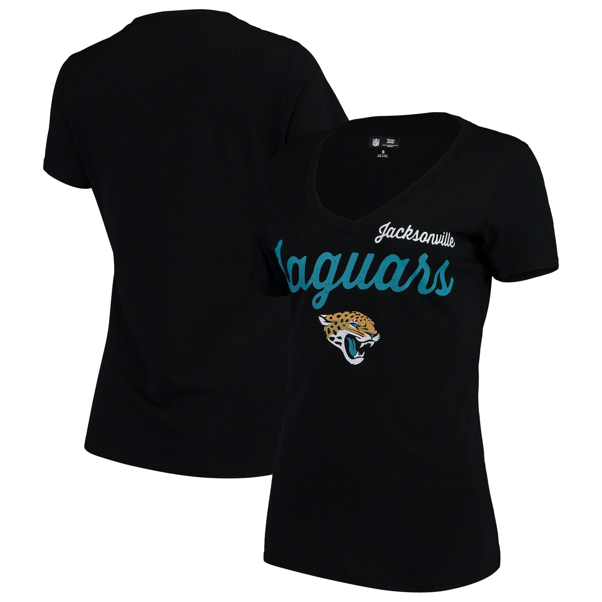 Jacksonville Jaguars G-III 4Her by Carl Banks Women's Post Season V-Neck T-Shirt - Black