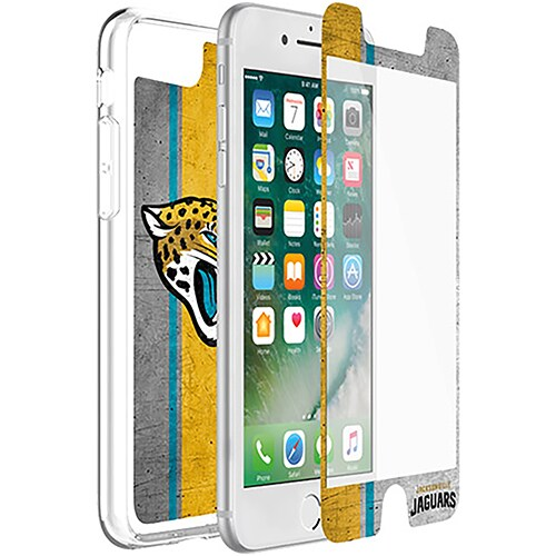 Jacksonville Jaguars OtterBox iPhone 8/7/6/6s Symmetry Case with Alpha Glass Screen Protector