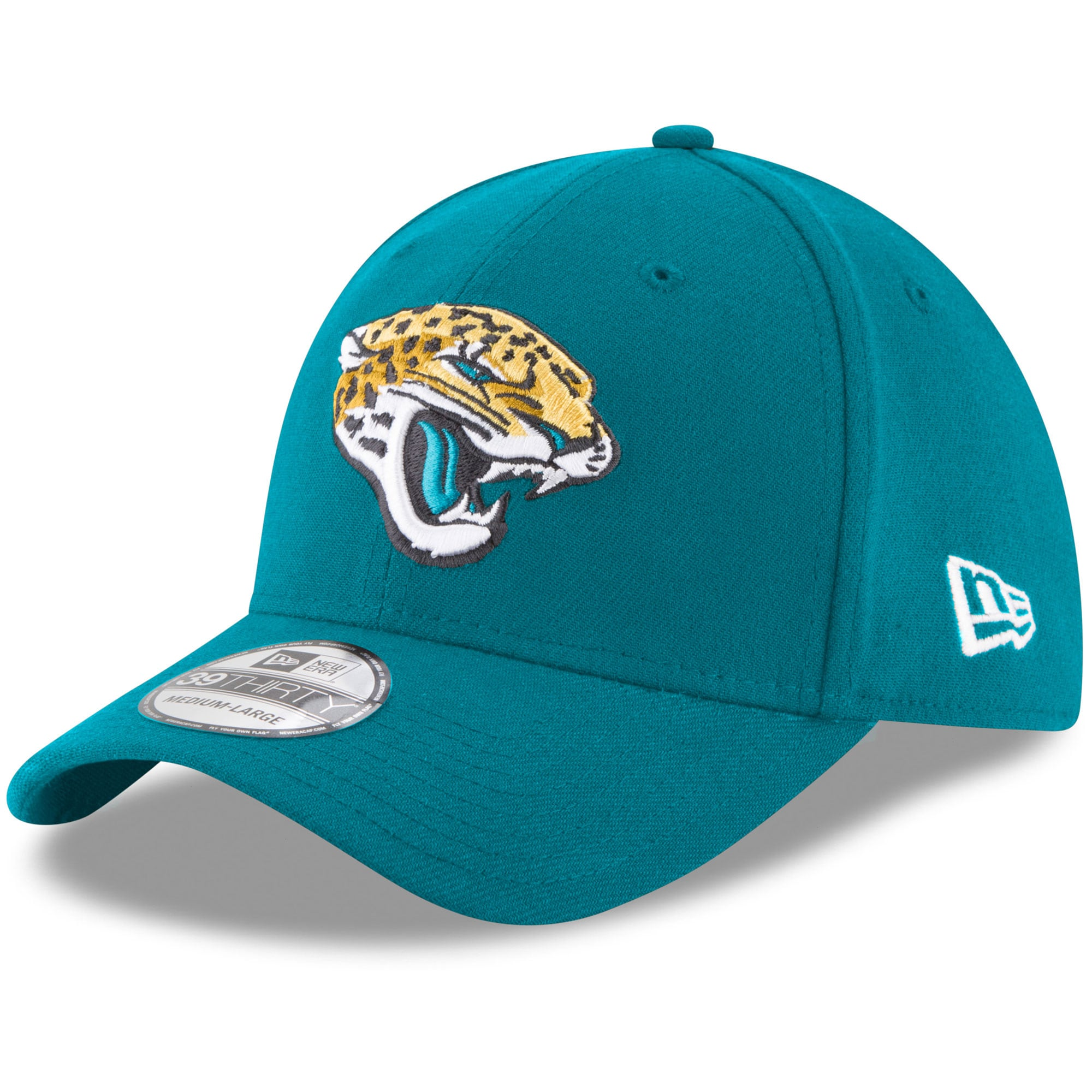 Jacksonville Jaguars New Era 39THIRTY Flex Team Classic Hat - Teal