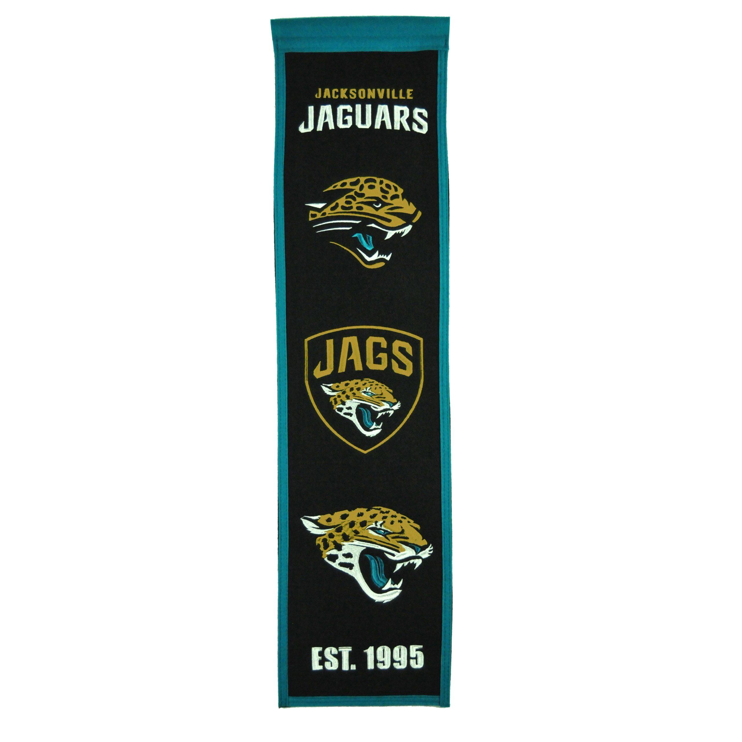 "Jacksonville Jaguars 8"" x 32"" Premium Heritage Banner"