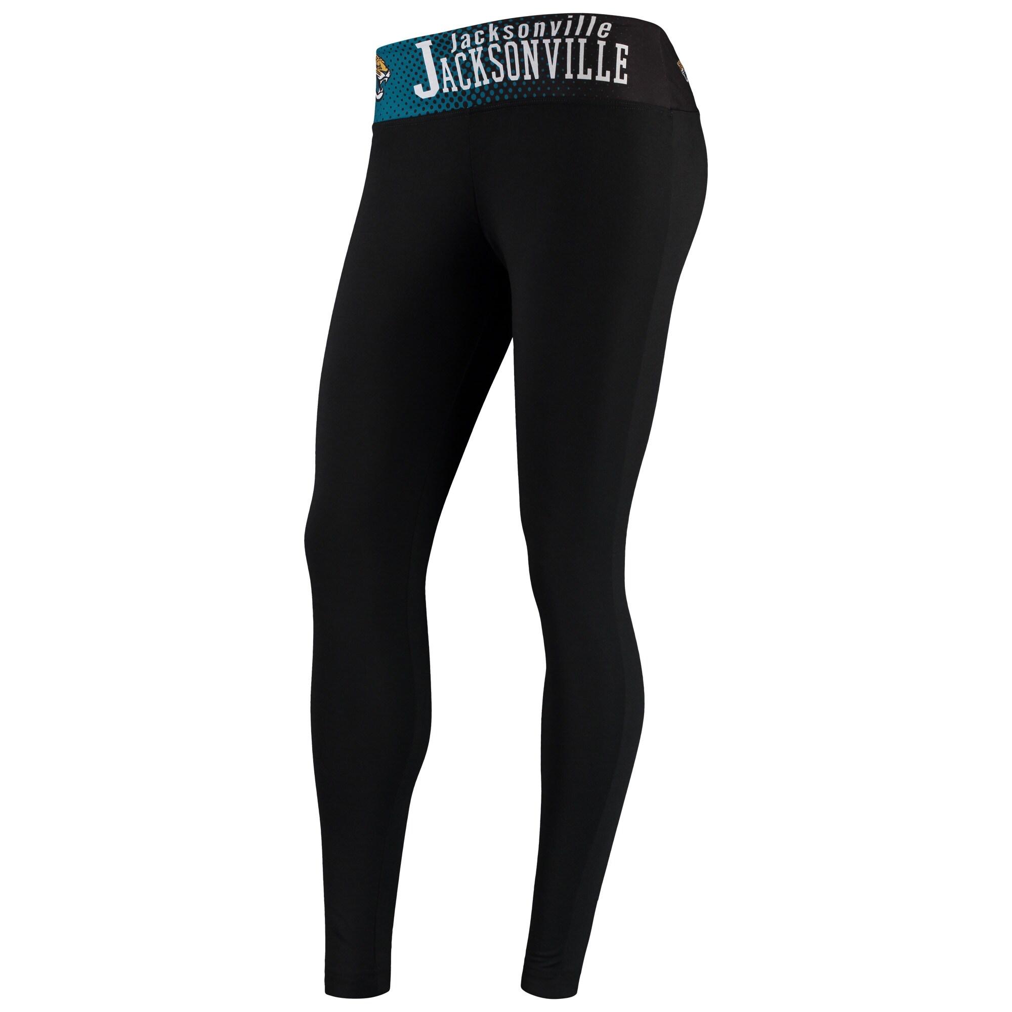 Jacksonville Jaguars Concepts Sport Women's Vortex Knit Leggings - Black
