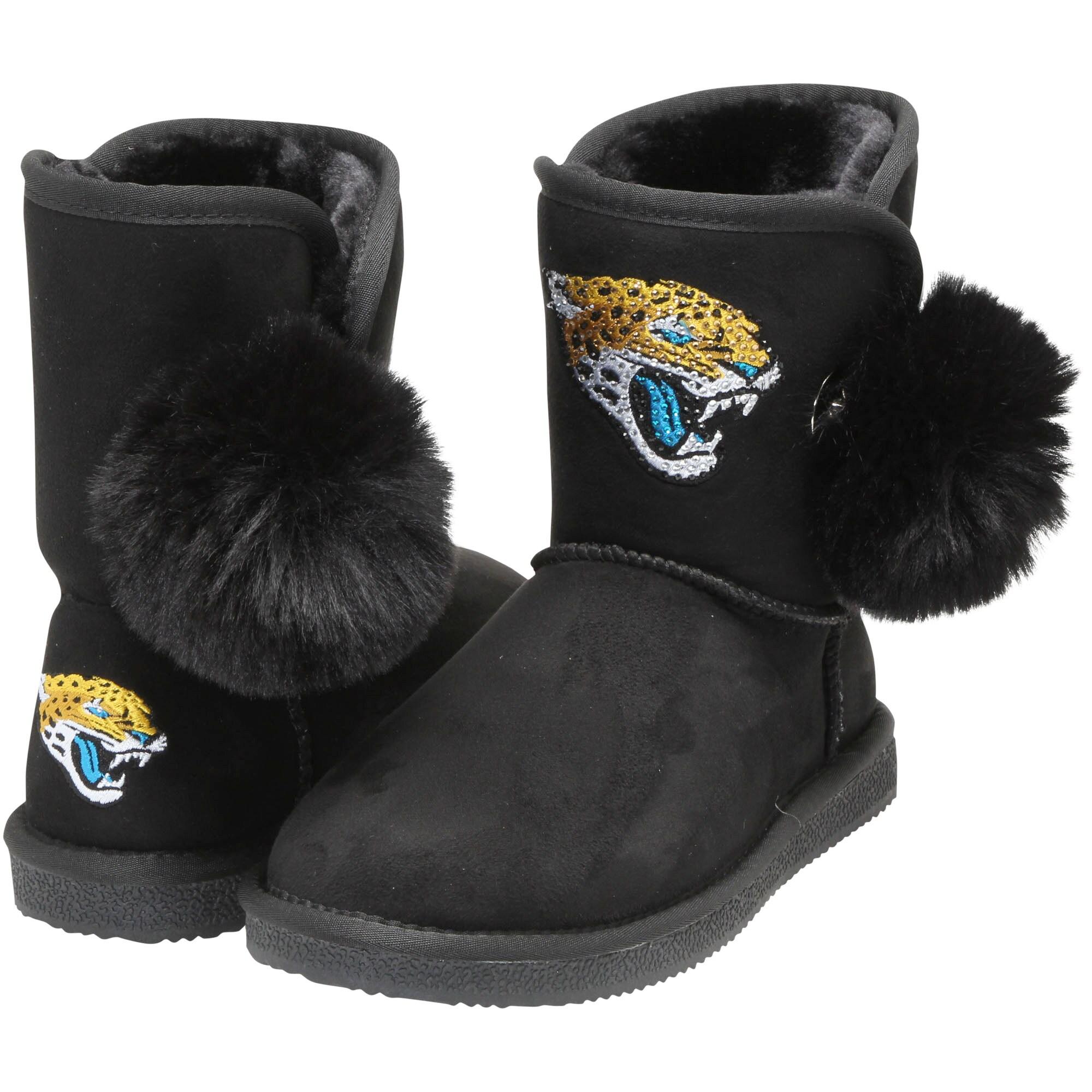 Jacksonville Jaguars Cuce Women's The Fumble Faux Fur Boots - Black