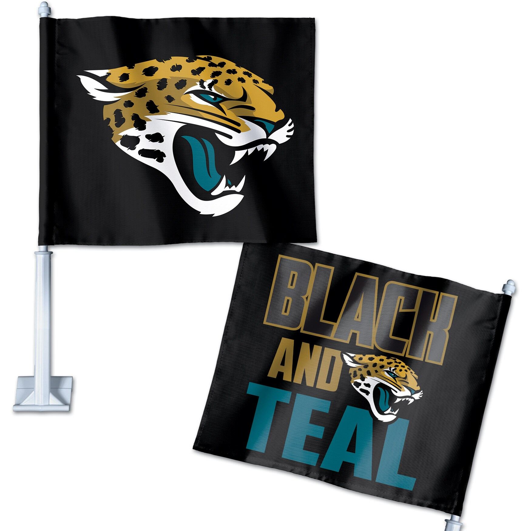Jacksonville Jaguars WinCraft Double-Sided Slogan Car Flag