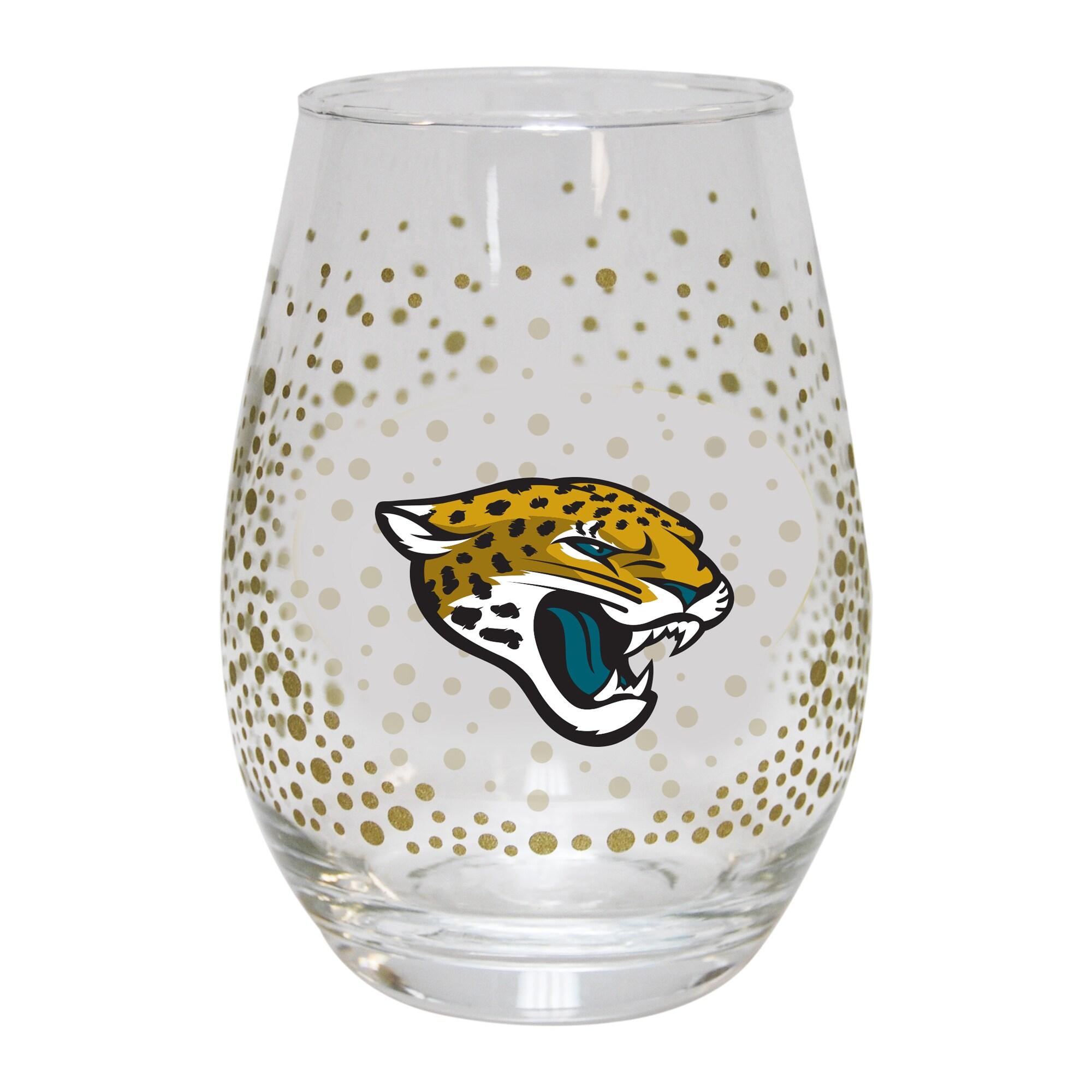 Jacksonville Jaguars Glitter Stemless Tumbler