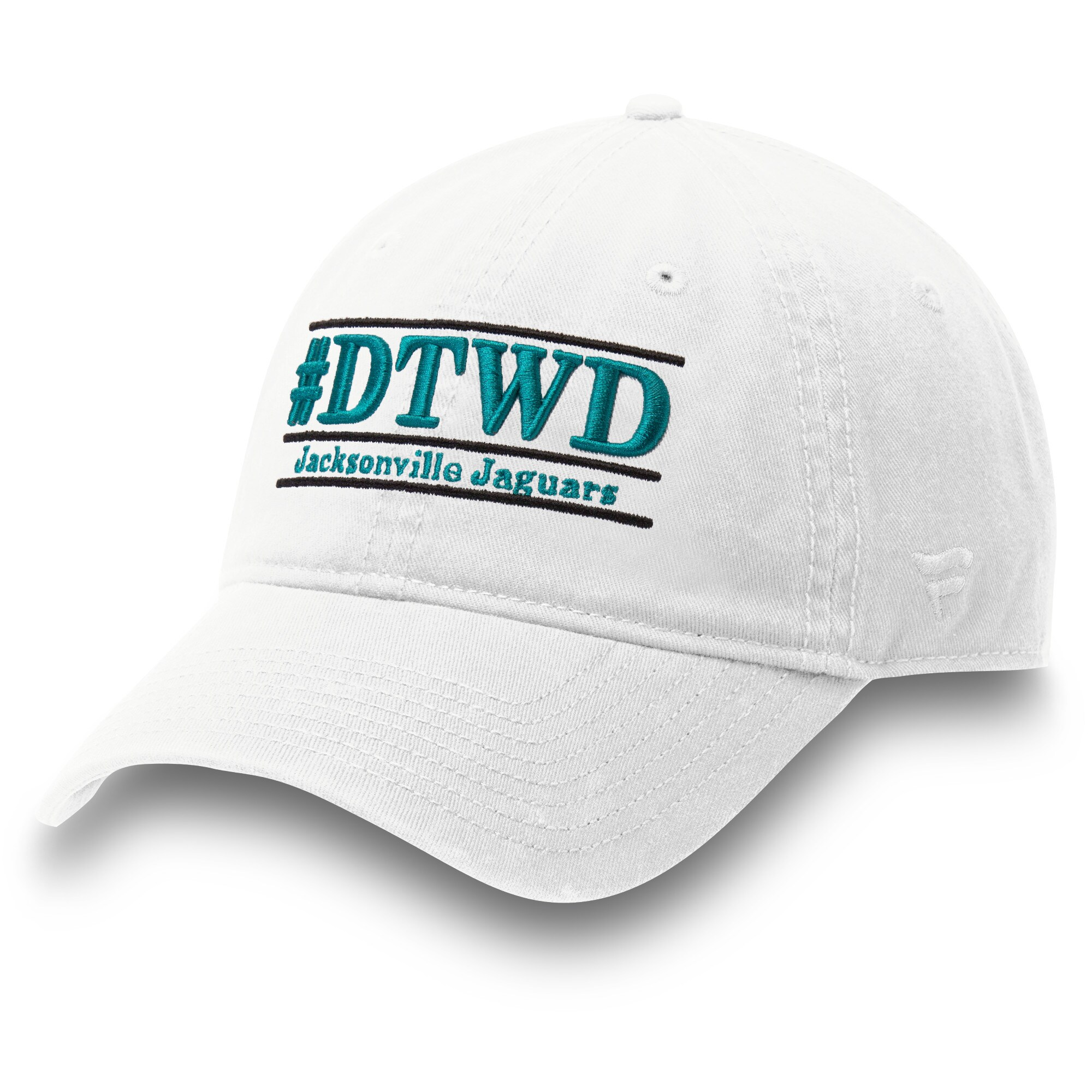 Jacksonville Jaguars NFL Pro Line by Fanatics Branded #DTWD Nickname Bar Adjustable Hat - White