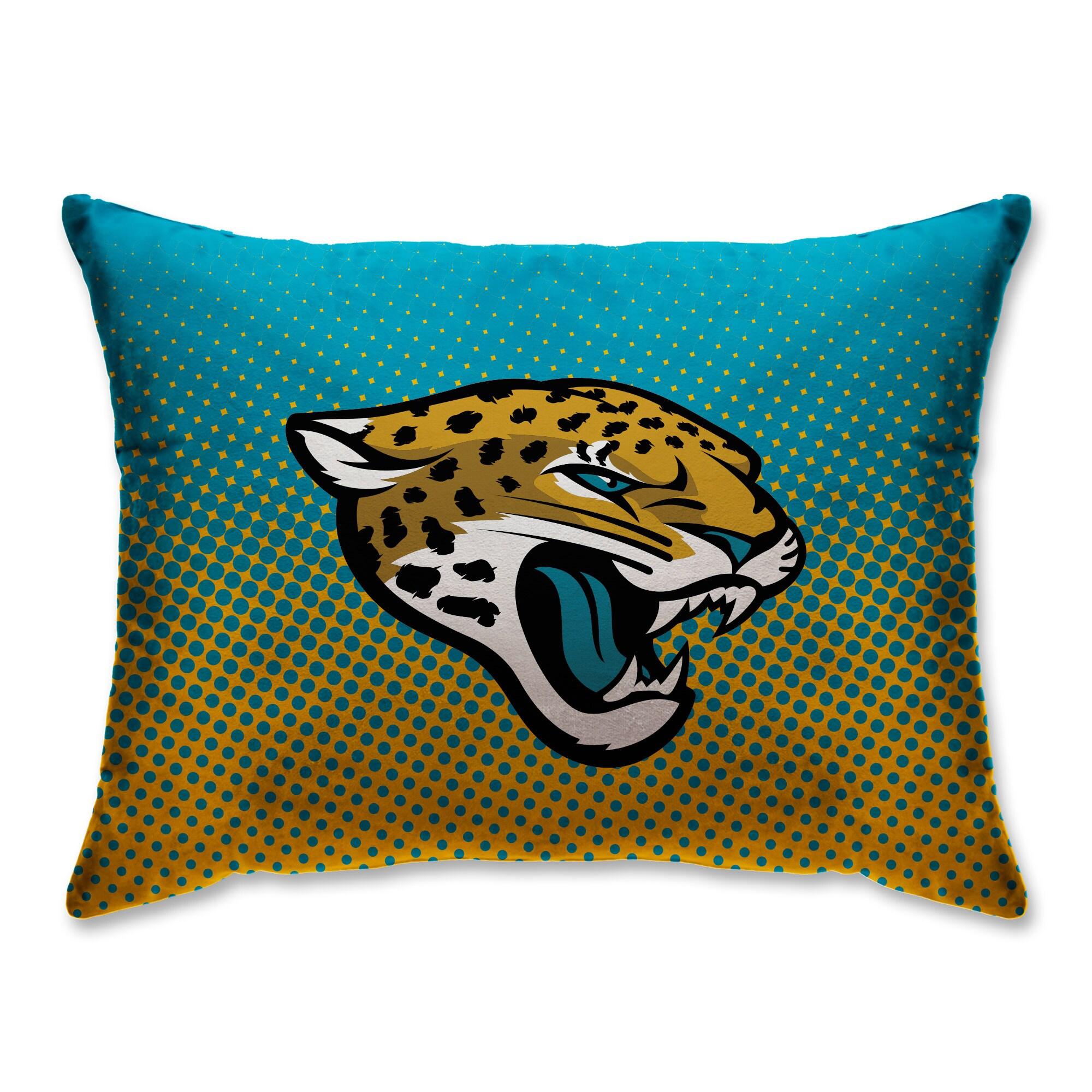 "Jacksonville Jaguars 20"" x 26"" Dot Decorative Bed Pillow"