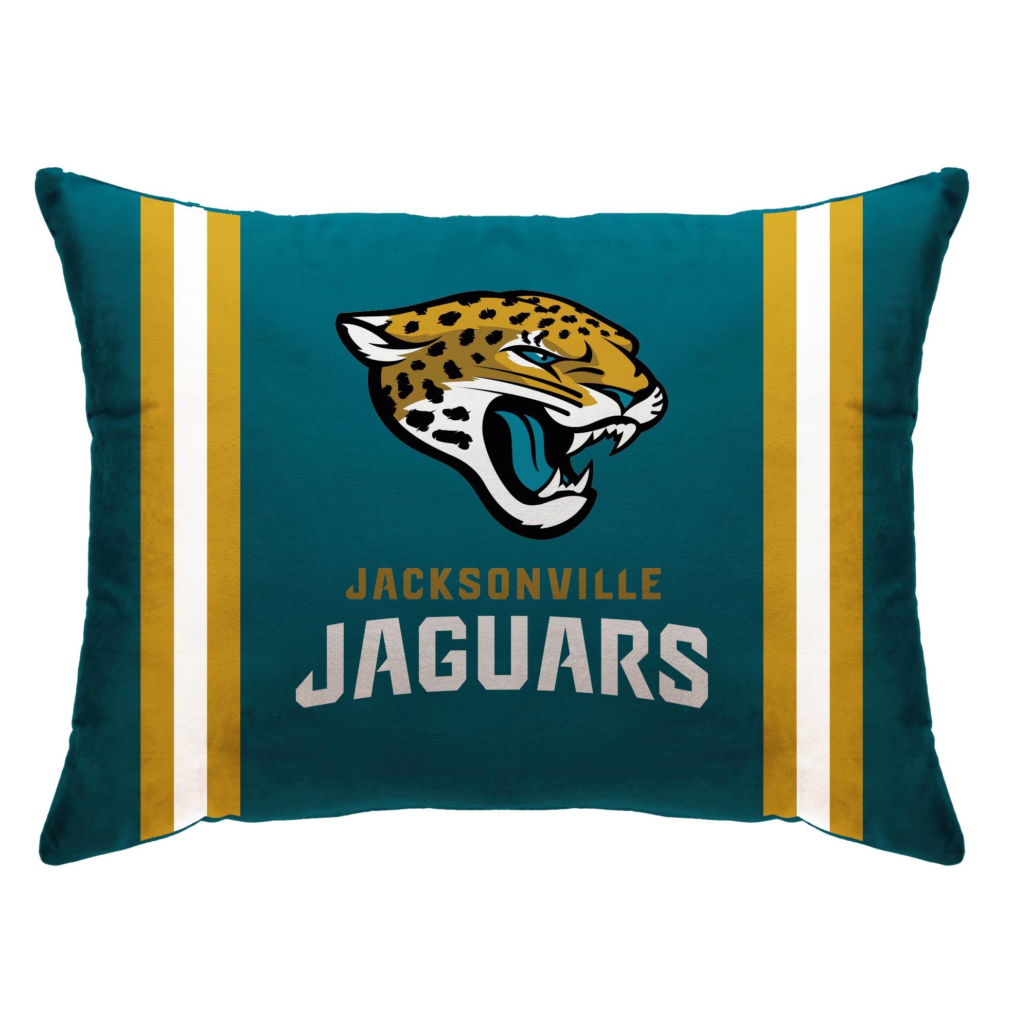 "Jacksonville Jaguars 20"" x 26"" Plush Bed Pillow - Teal"